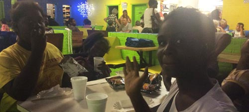 Fun and food were part of the end of year mentor banquet celebration