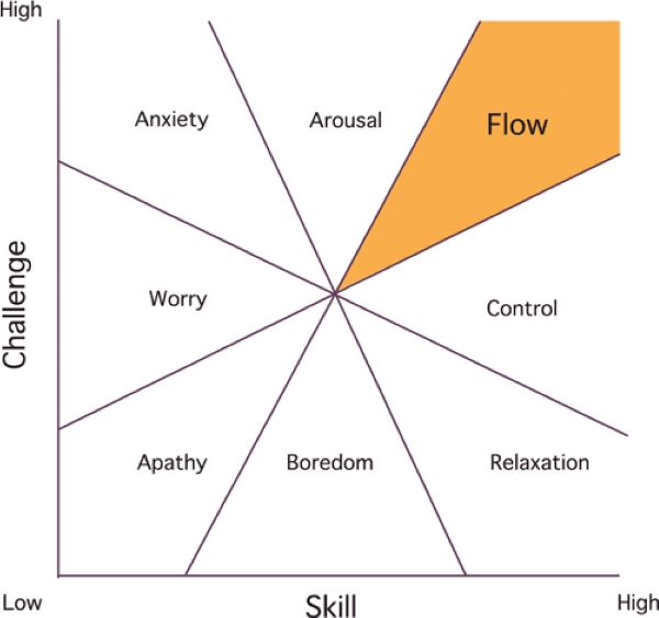 it's not just a mental state as mihaly csikszentmihalyi discusses, it can also be viewed as an area of expertise ( image source )
