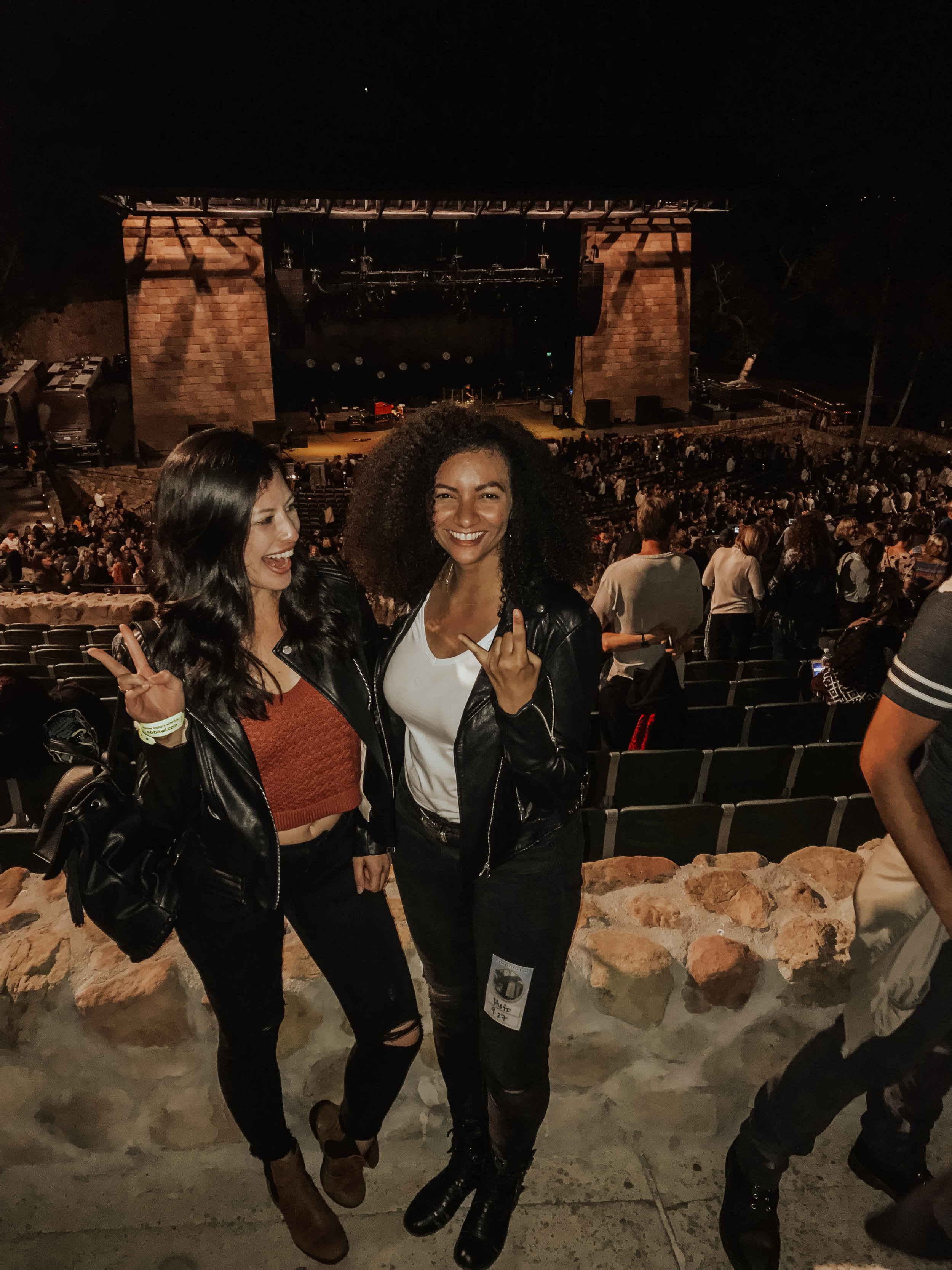 With friend Samantha Johnson post Alanis Morissette concert, Santa Barbara Bowl
