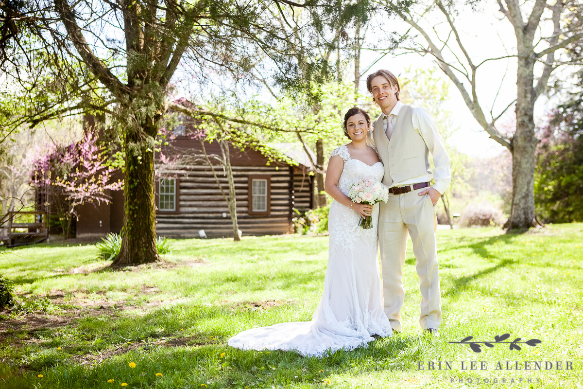 Bride_Groom_In_Front_Of_Cabin