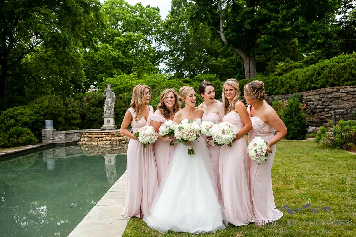 Photograph of Destination Garden Wedding at Cheekwood in Nashville, Tennessee photographed by Erin Lee Allender.
