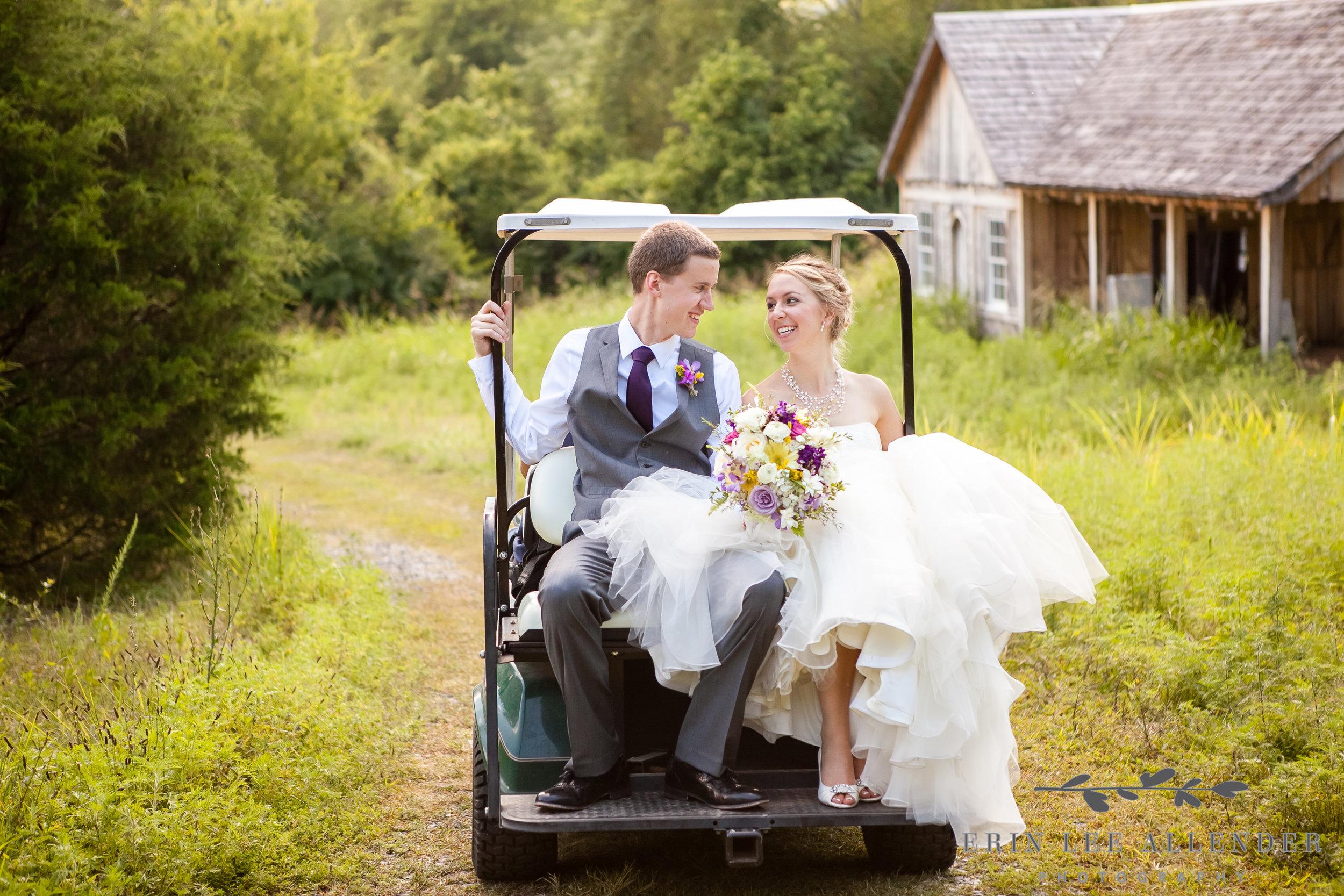 Bride_Groom_in_Golf_Cart