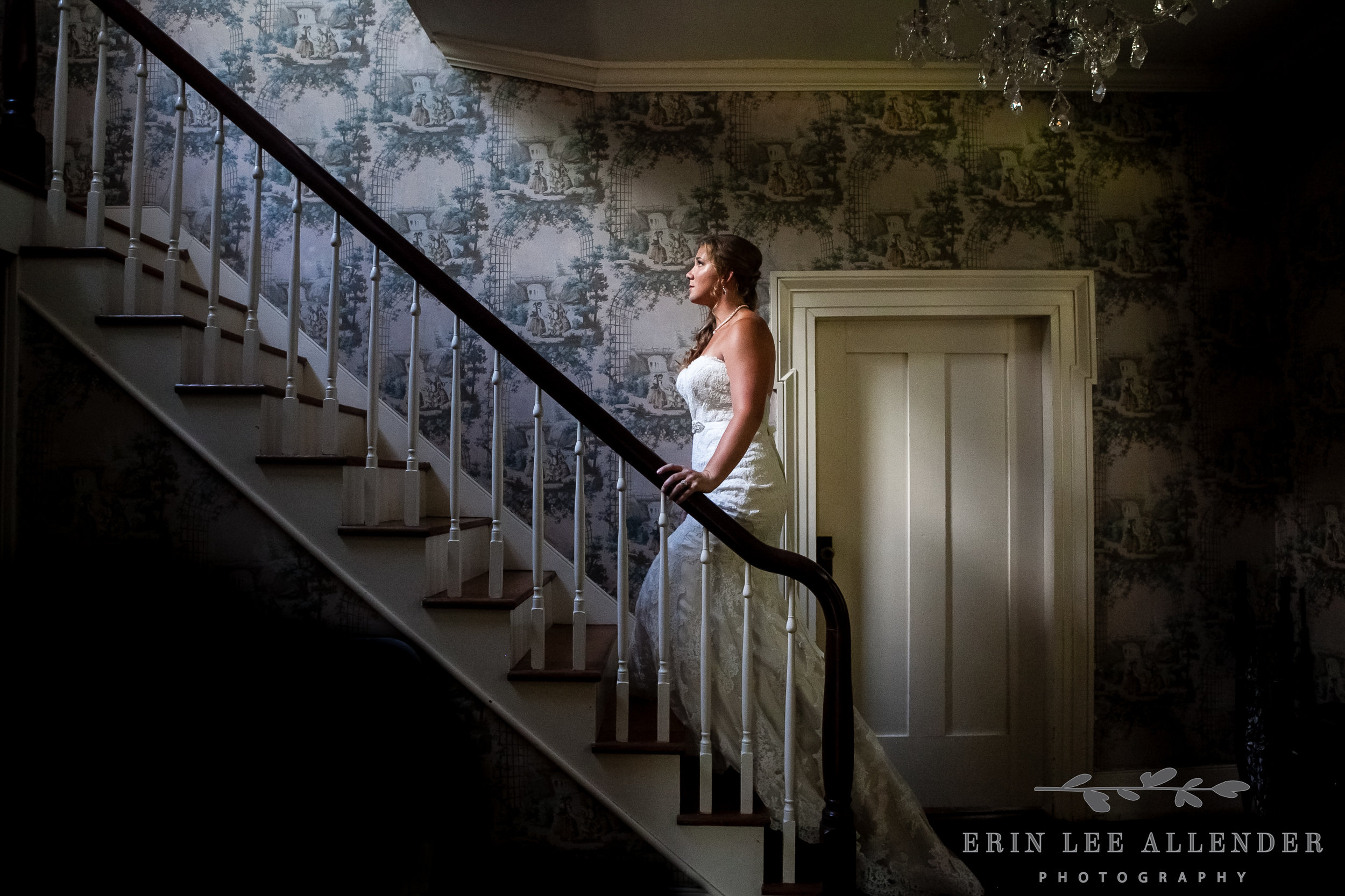 Bride_On_Staircase_With_Light