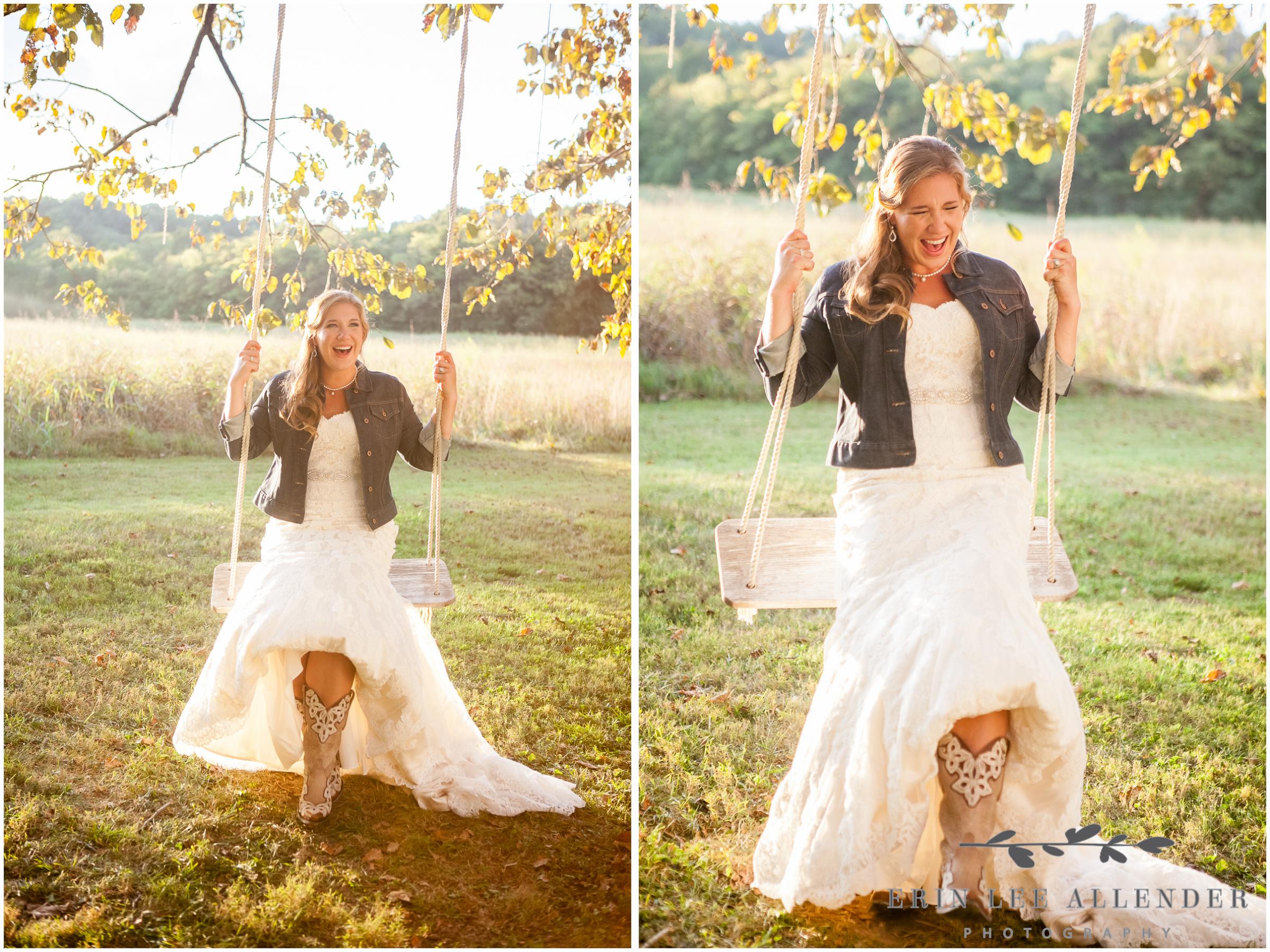 Bride_On_Swing