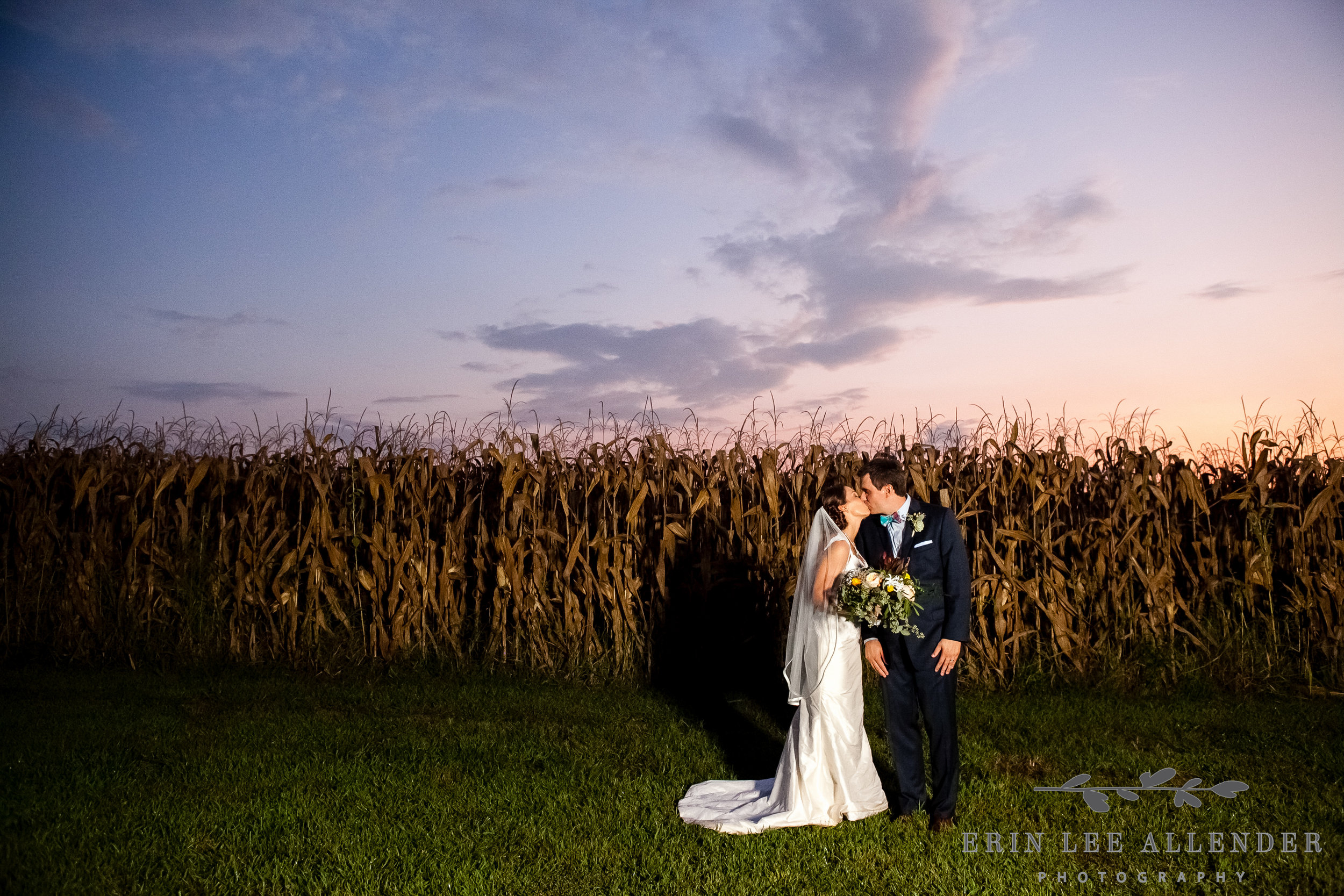 Bride_Groom_Cornfield_Sunset