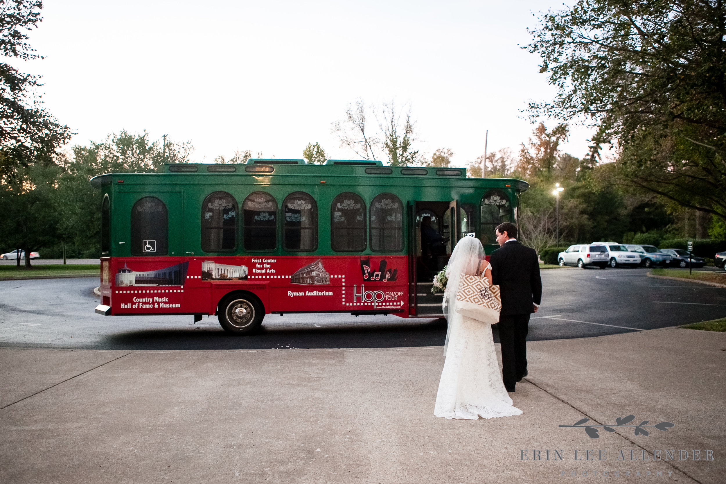 Bride_Groom_Walk_To_Trolley