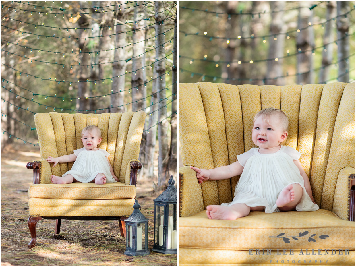 Baby_On_Yellow_Chair_In_Forrest