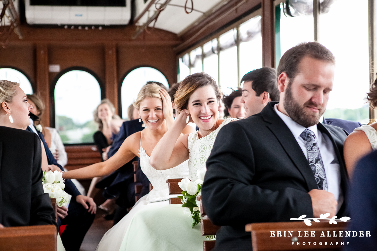 Riding_on_trolley_to_reception