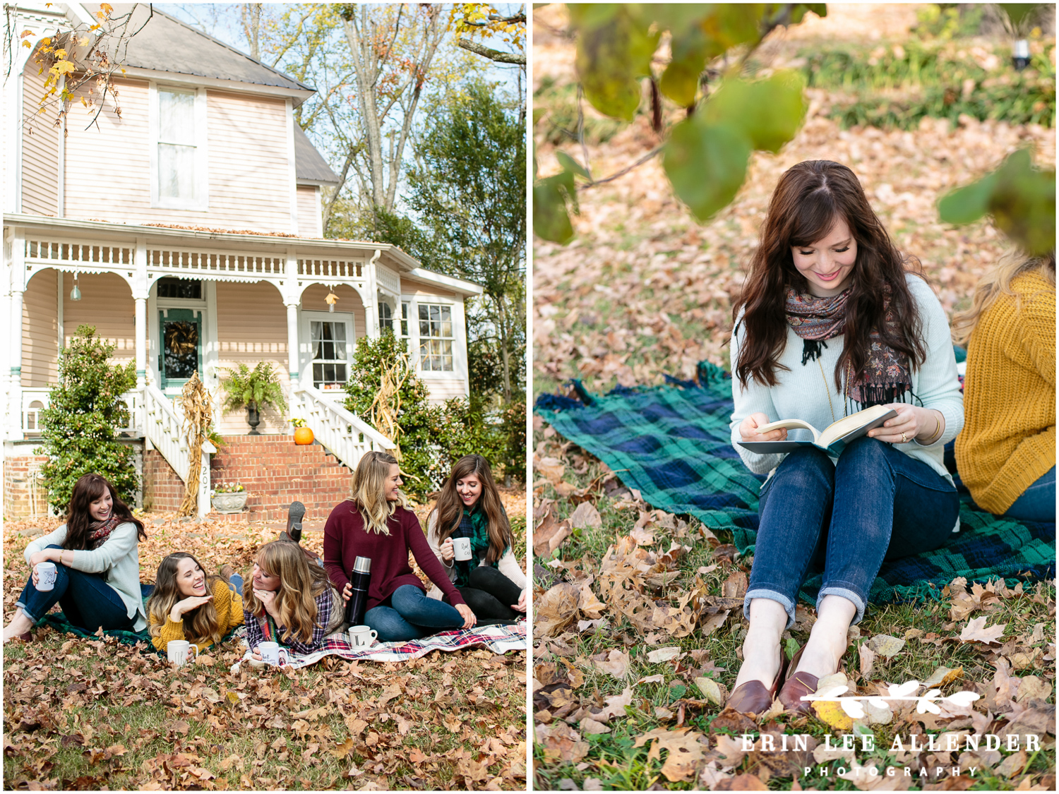 Gilmore_Girls_Reading_On_Lawn