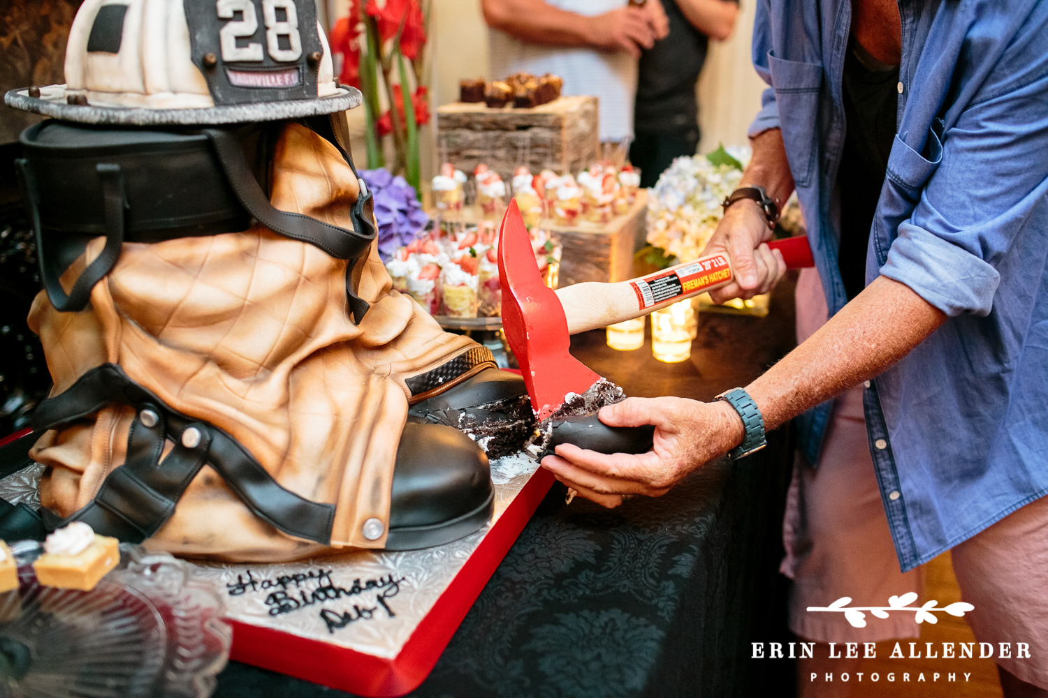 Cutting_Cake_With_Firefighter_Ax