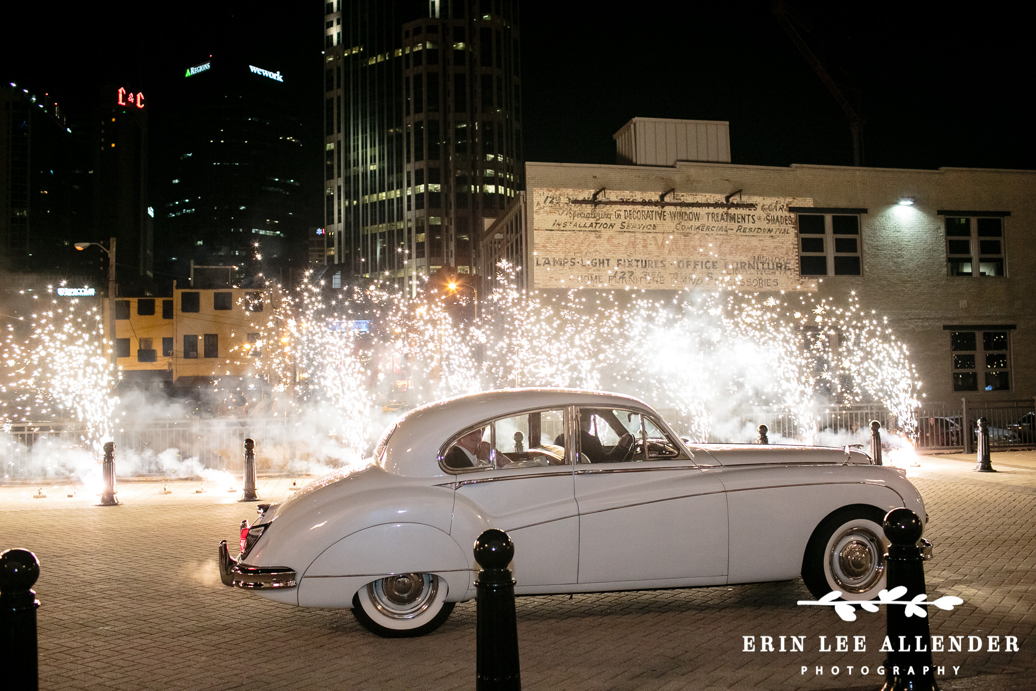 Classic_Car_Drives_Through_Sparklers