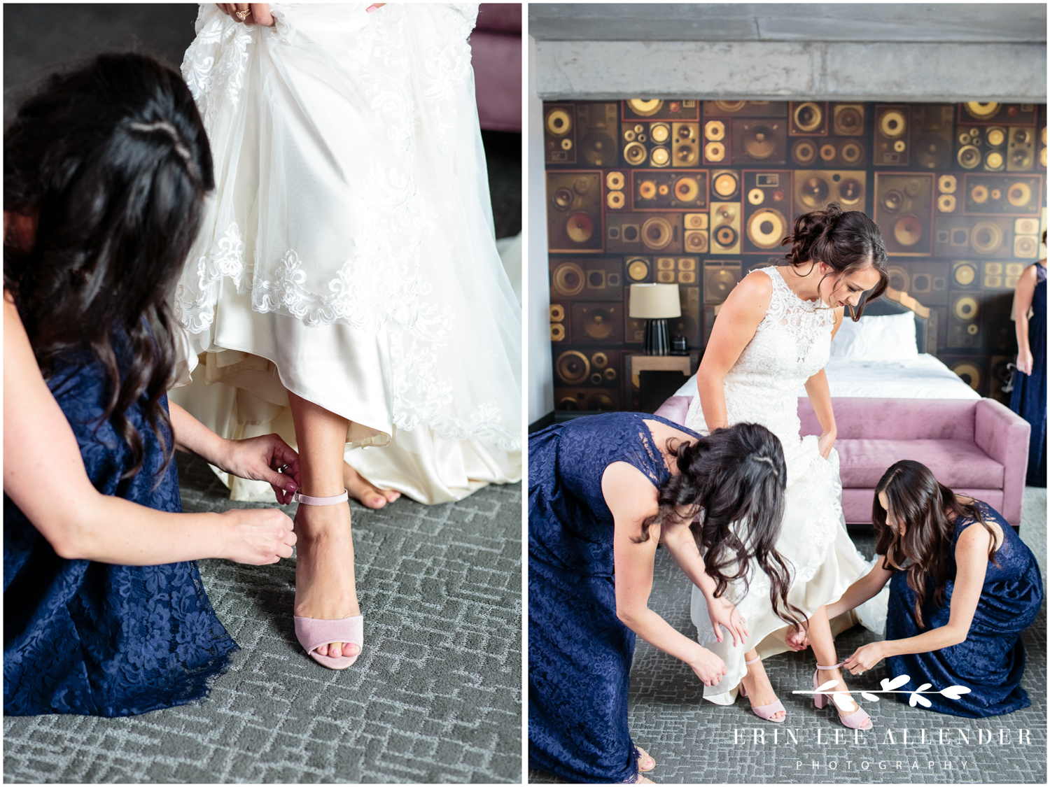 Putting-on-brides-shoes