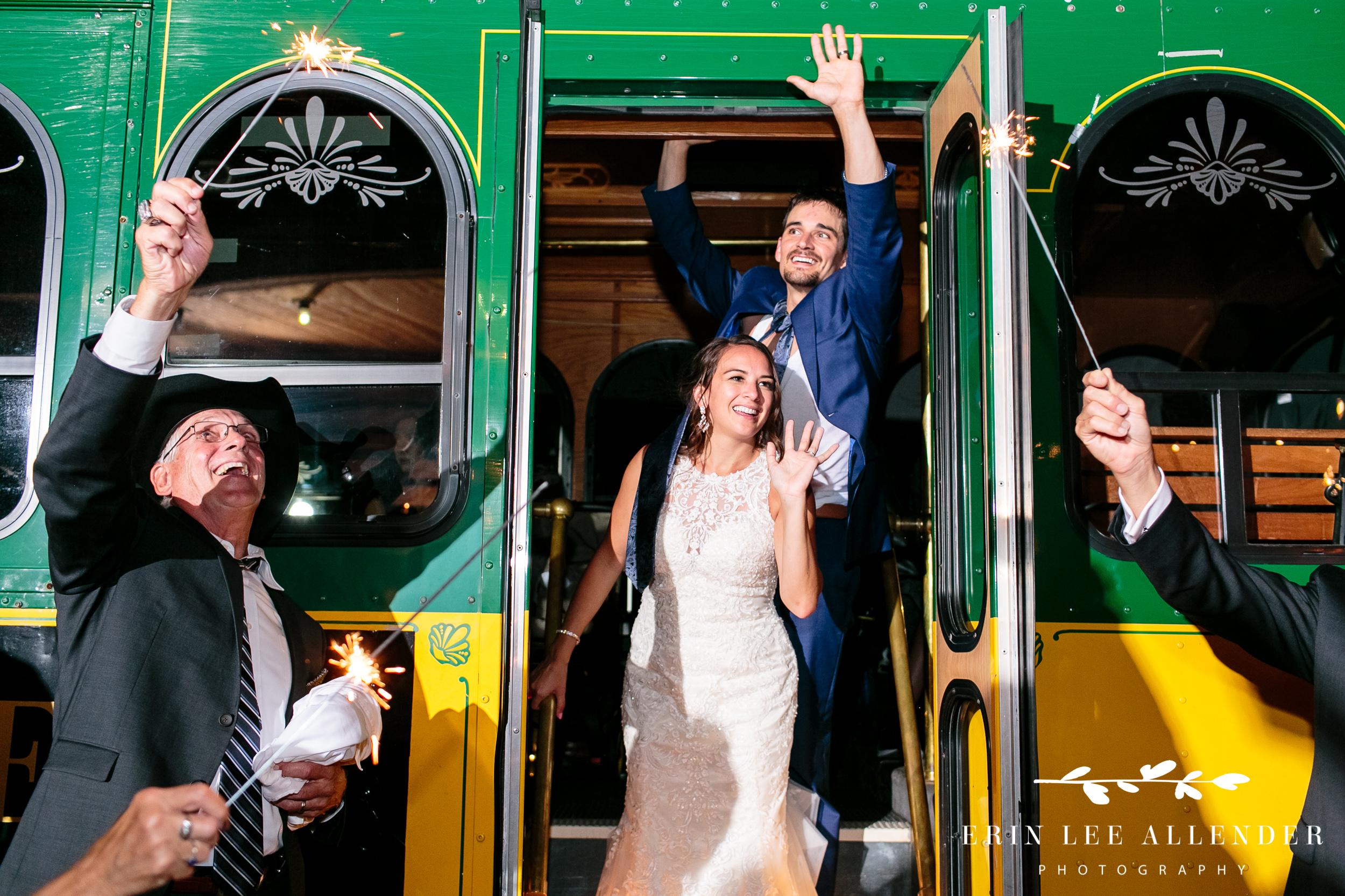 Trolley-wedding-exit