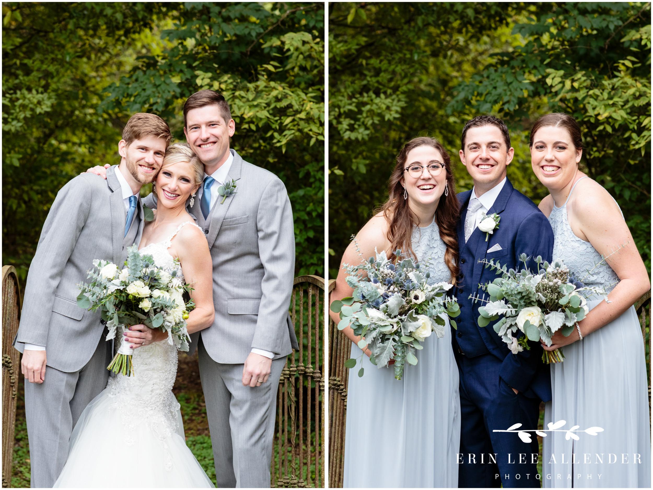 bride-with-siblings-wedding-portrait