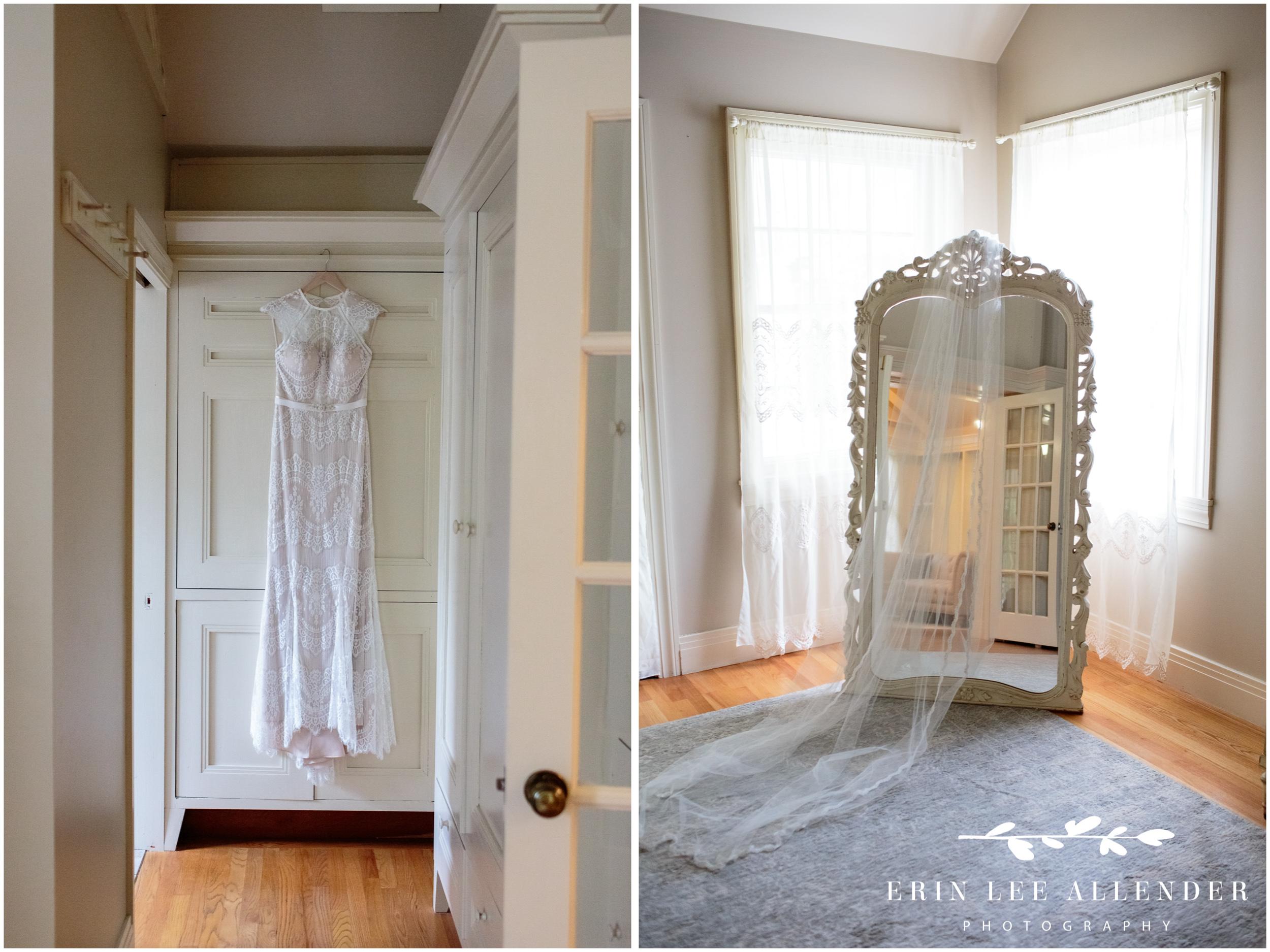 Bride's-dress-hanging