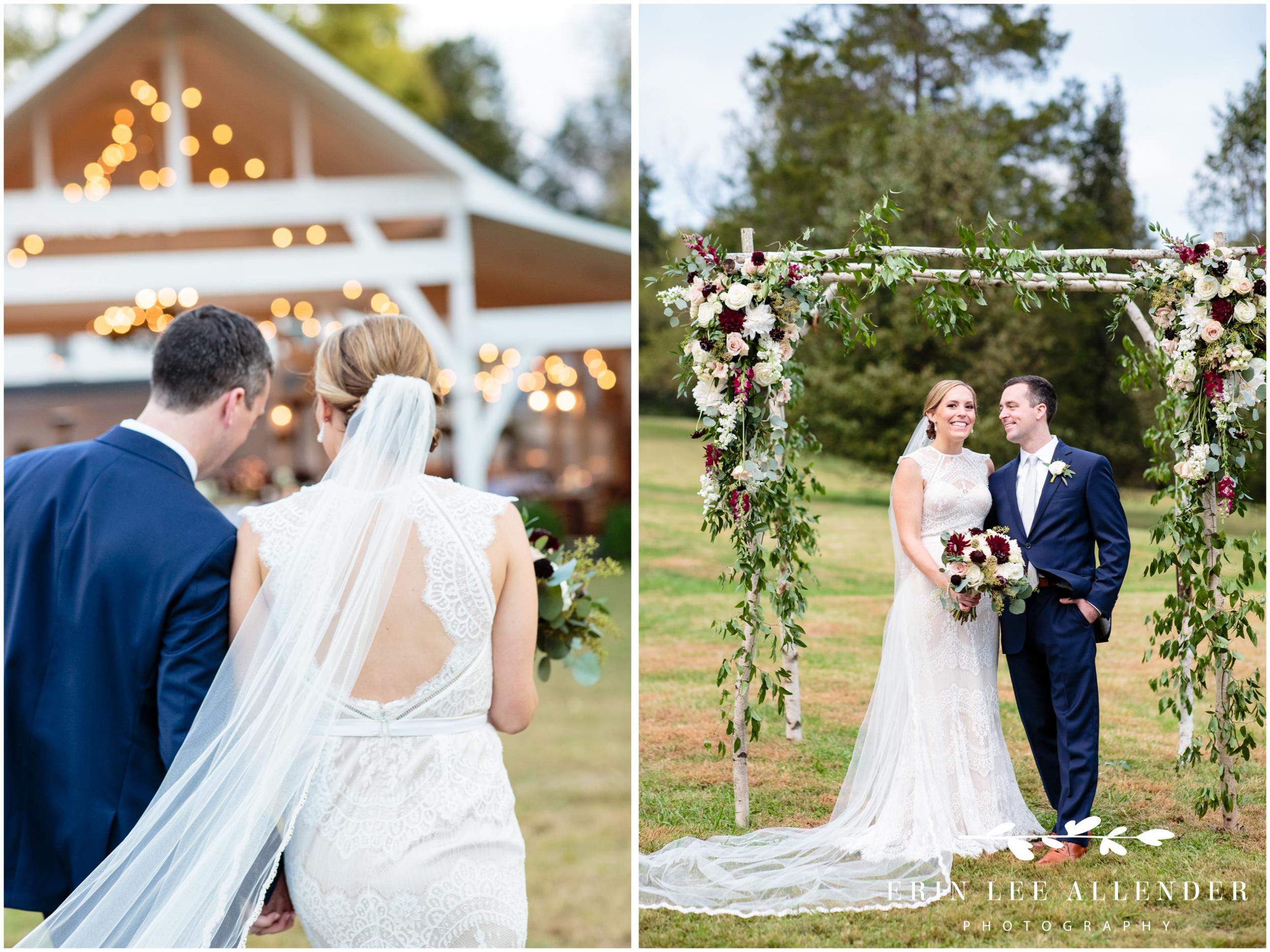 Bride-Groom-Under-birch-canopy