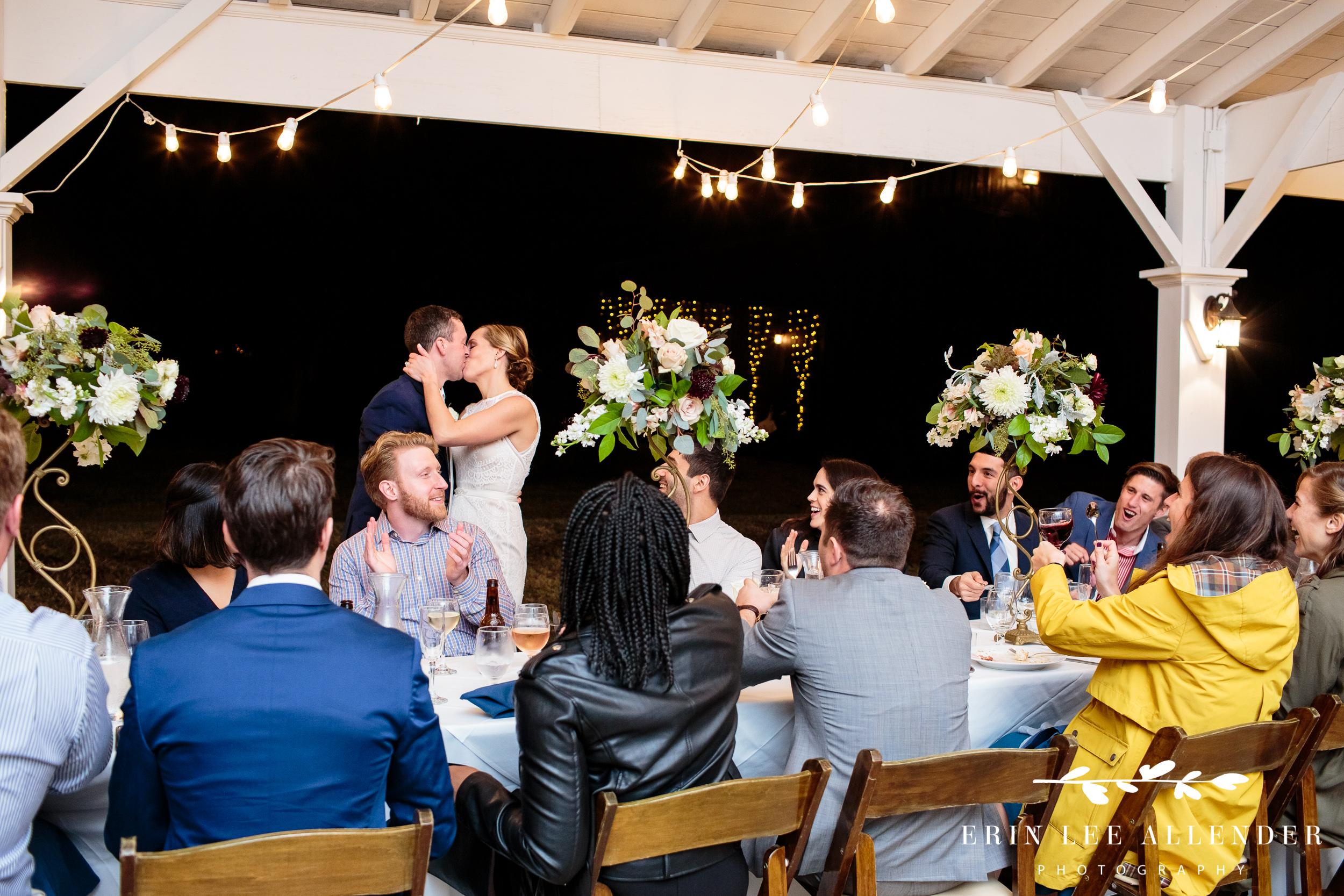 Bride-Groom-kiss-reception