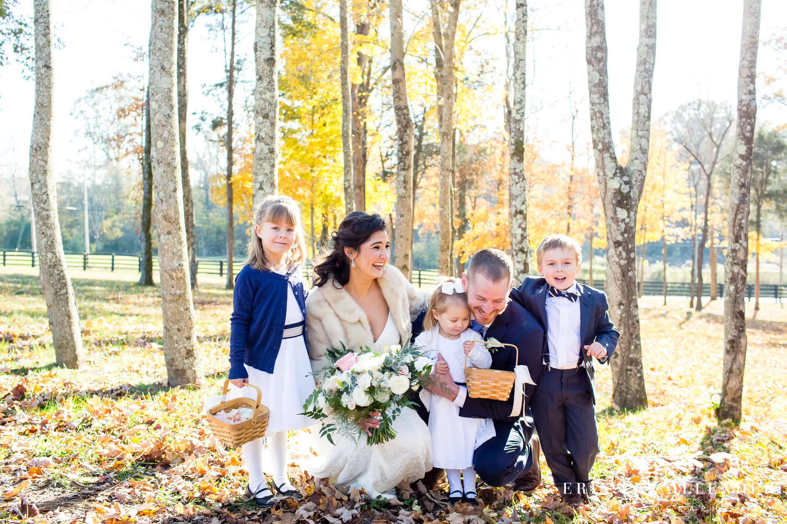 bride-groom-with-flower-girls-ring-bearer