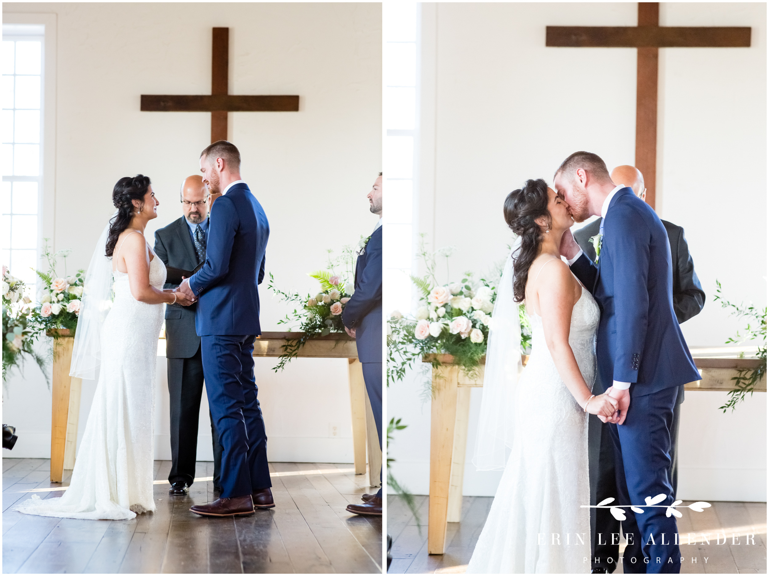 Bride-groom-kiss-alter