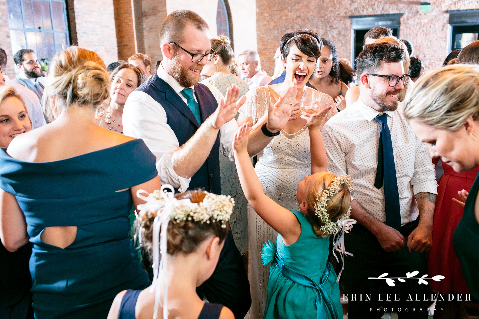 bride-groom-dance-with-flower-girls