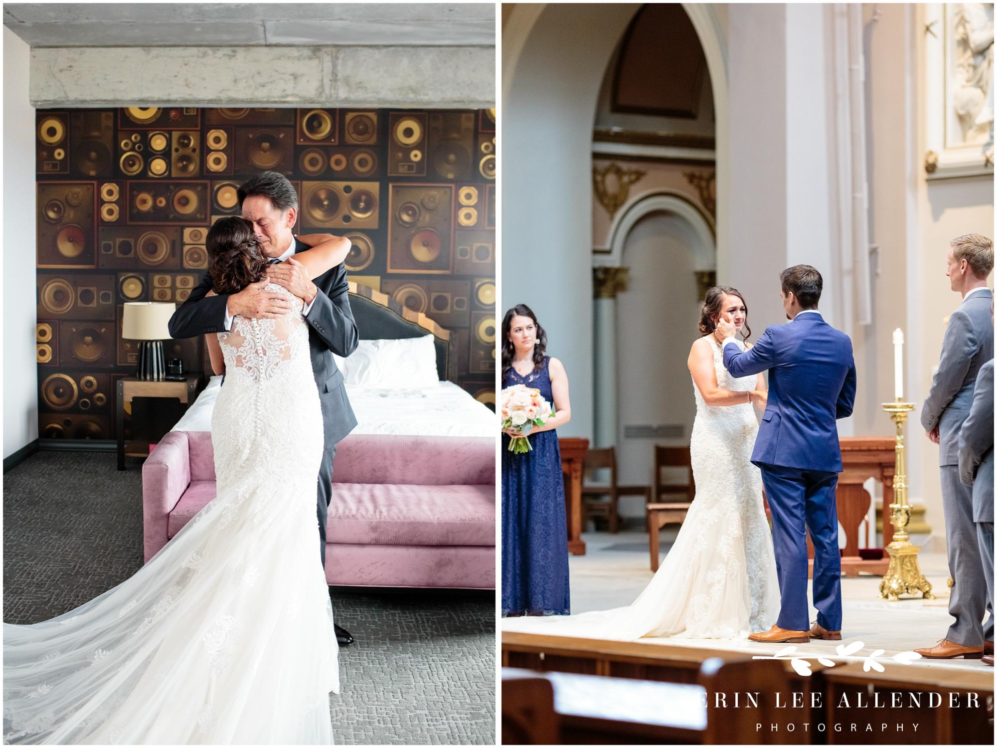 Groom-wipes-tears-from-bride