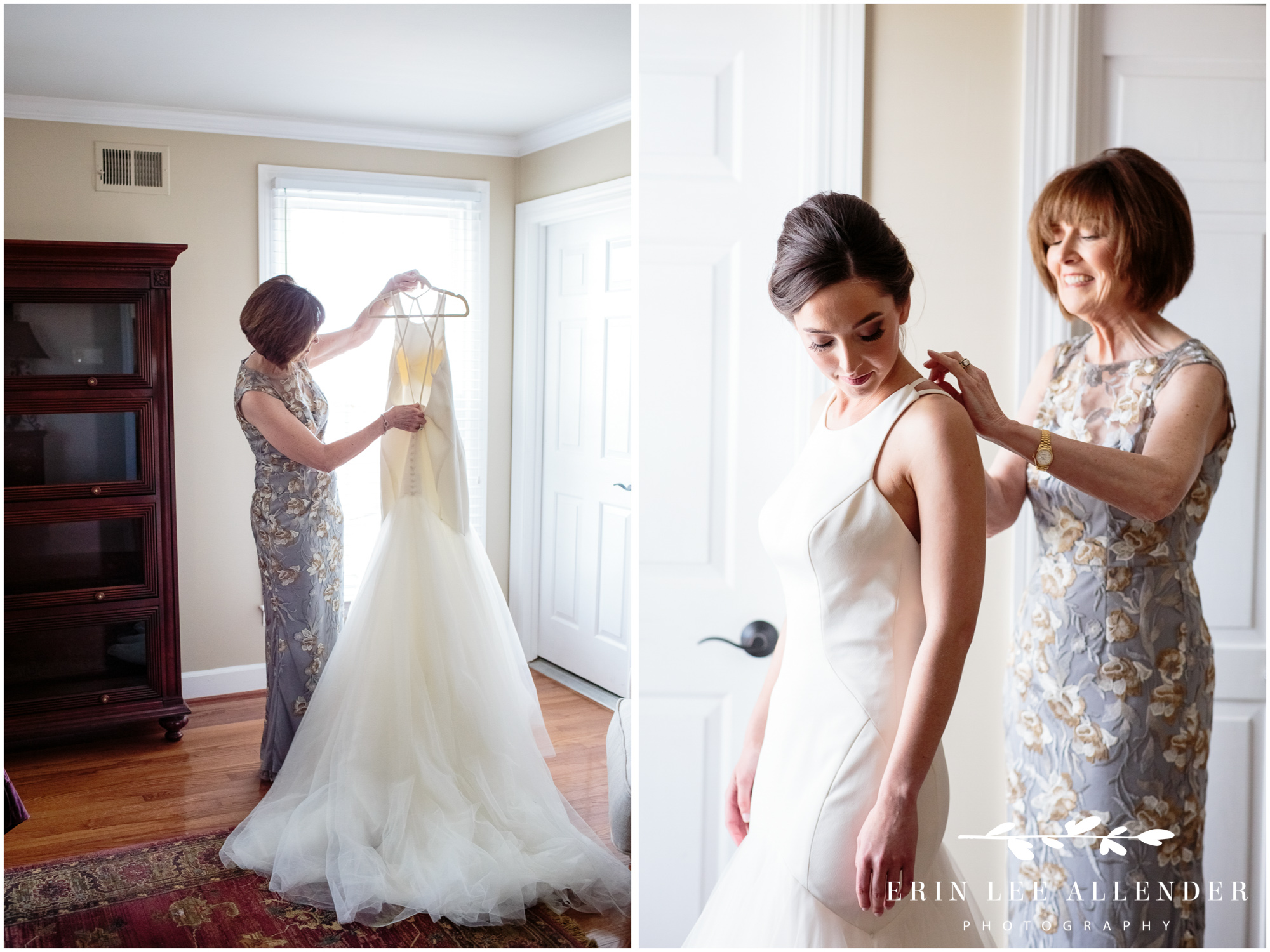 Mother-getting-bride-into-dress