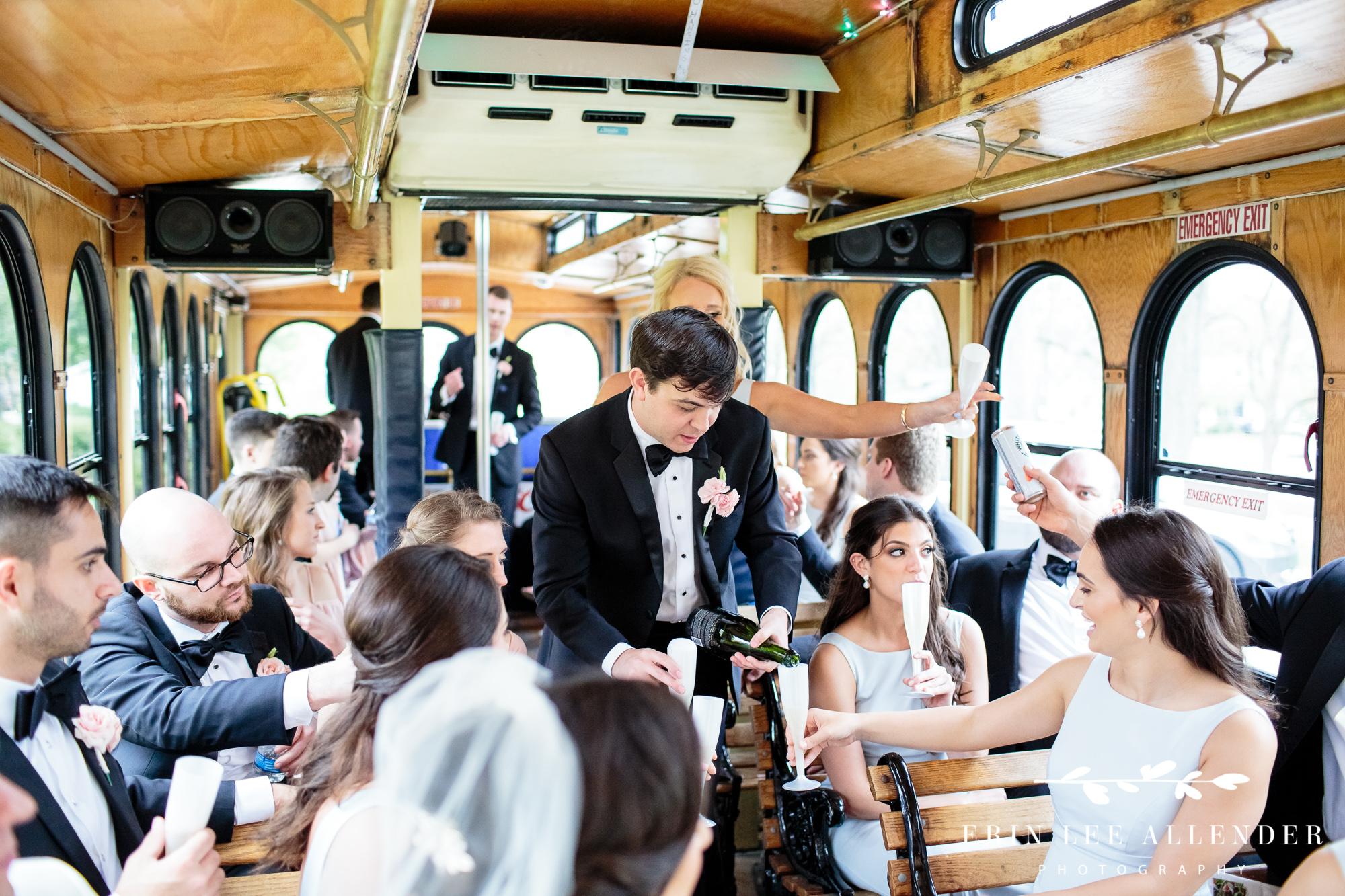 wedding-party-on-trolley