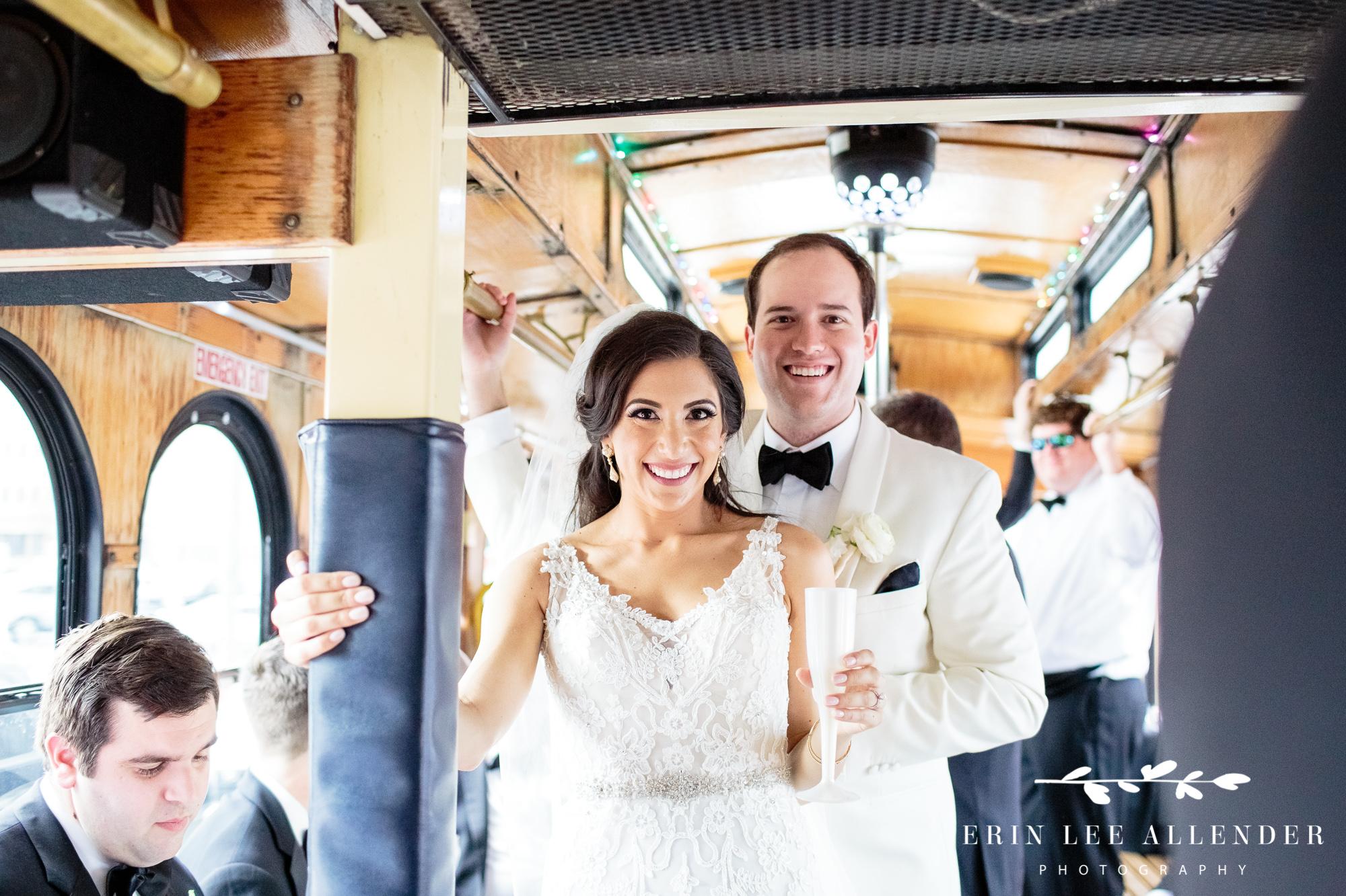 bride-groom-on-trolley
