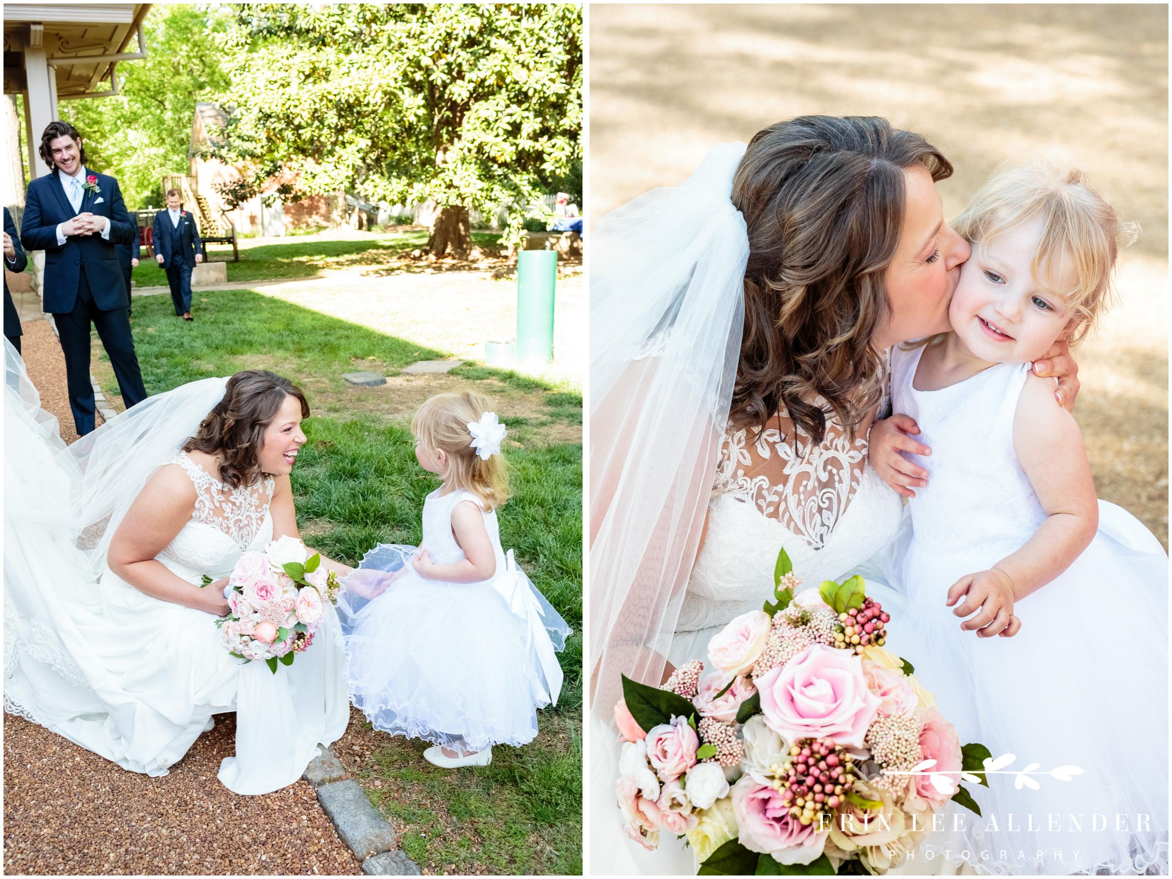 bride-kisses-flower-girl