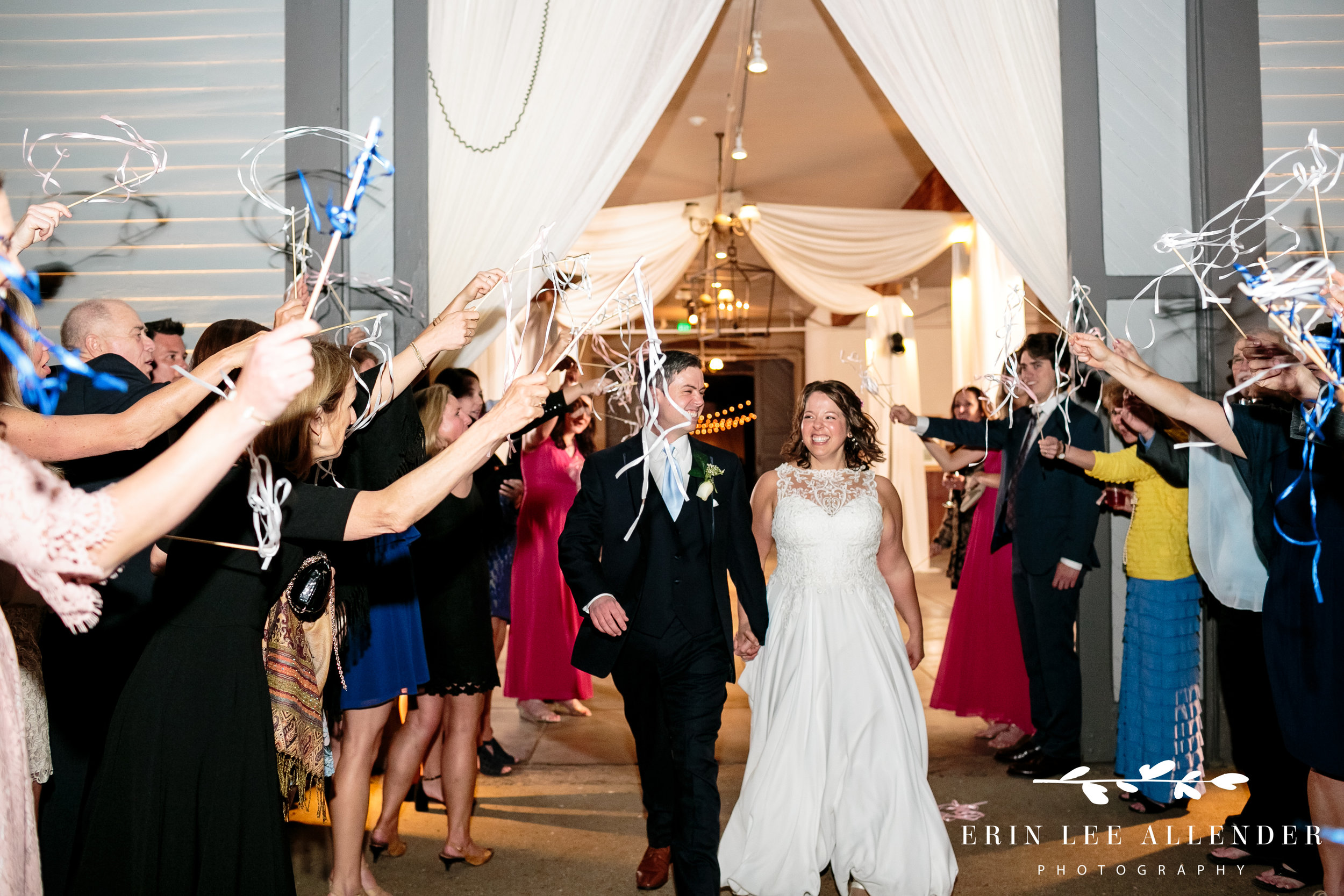 streamer-wedding-exit