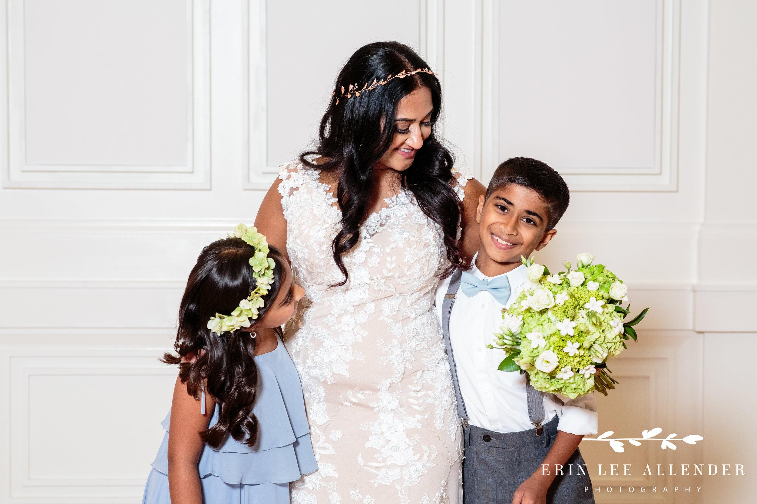bride-with-ring-bearer-flower-girl