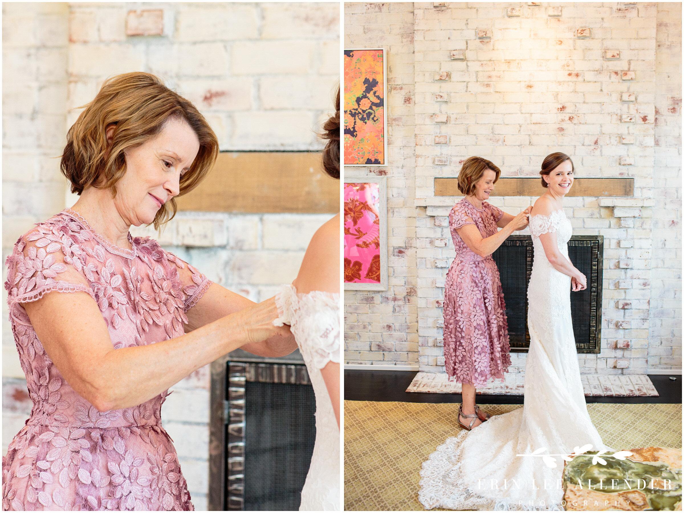 Bride-Getting-In-Wedding-Dress