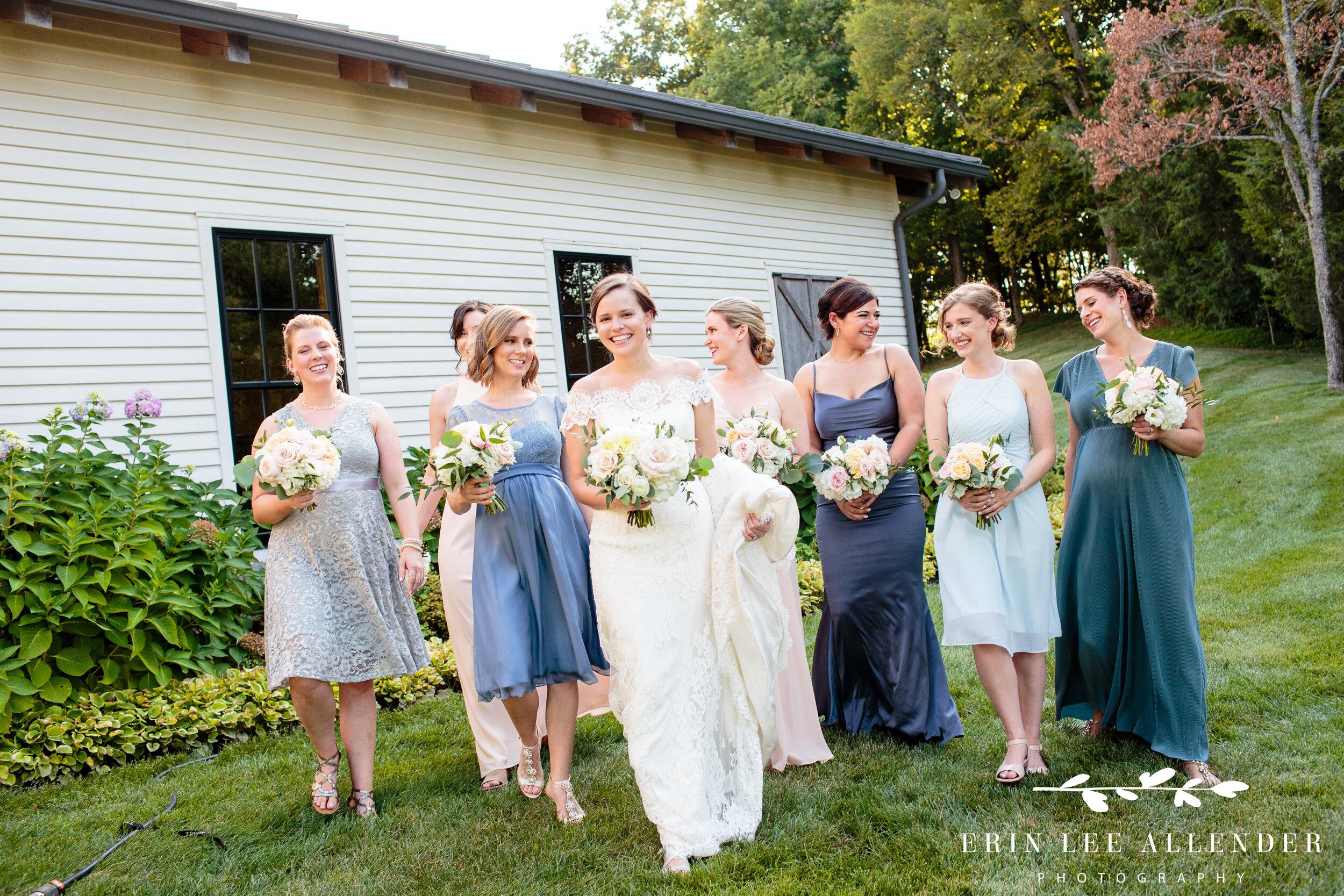 Bridesmaids-walking