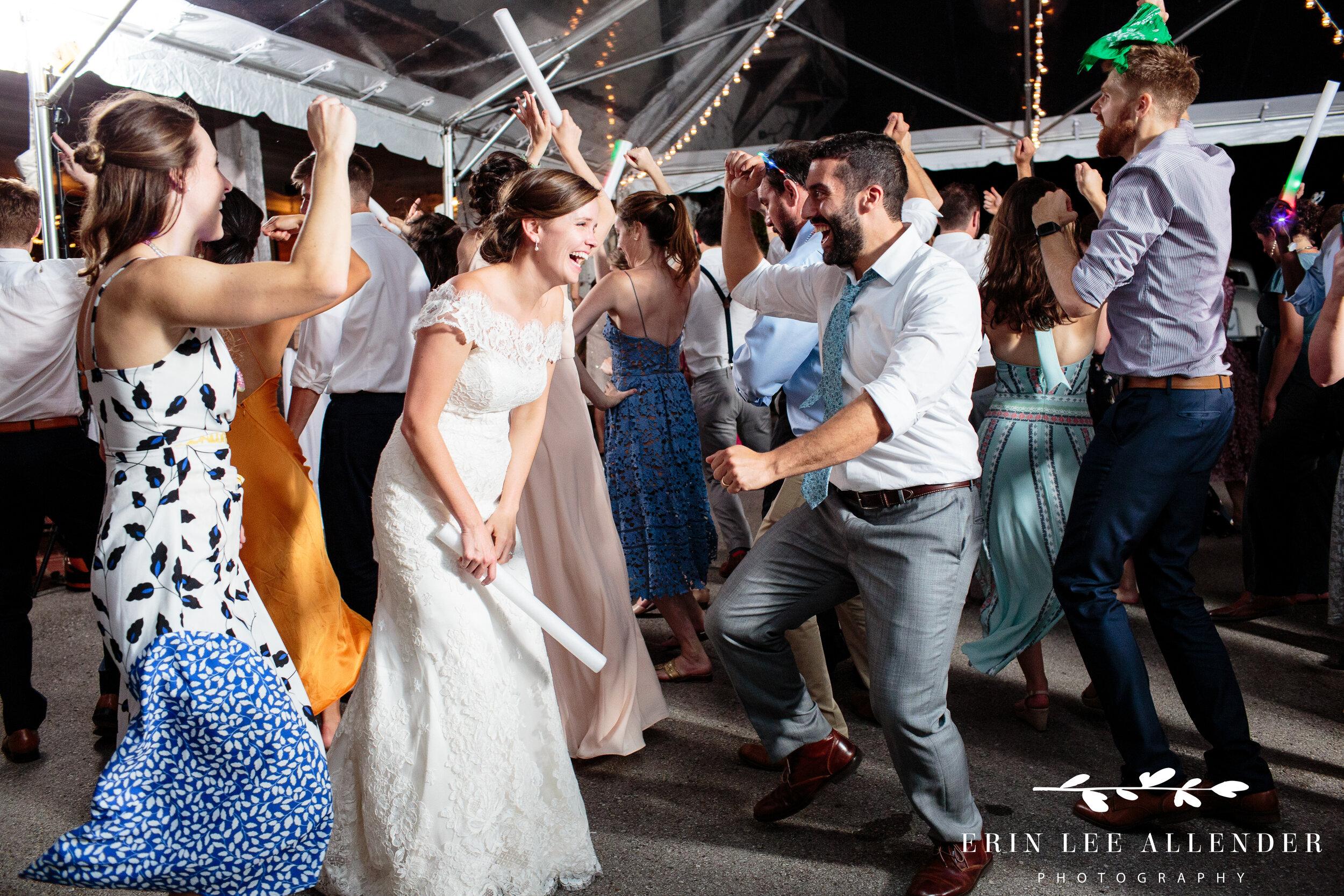 Bride-Laughing-On-Dance-Floor