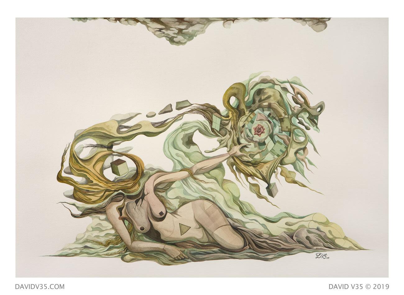 Flower On Wind / Watercolor / 2007