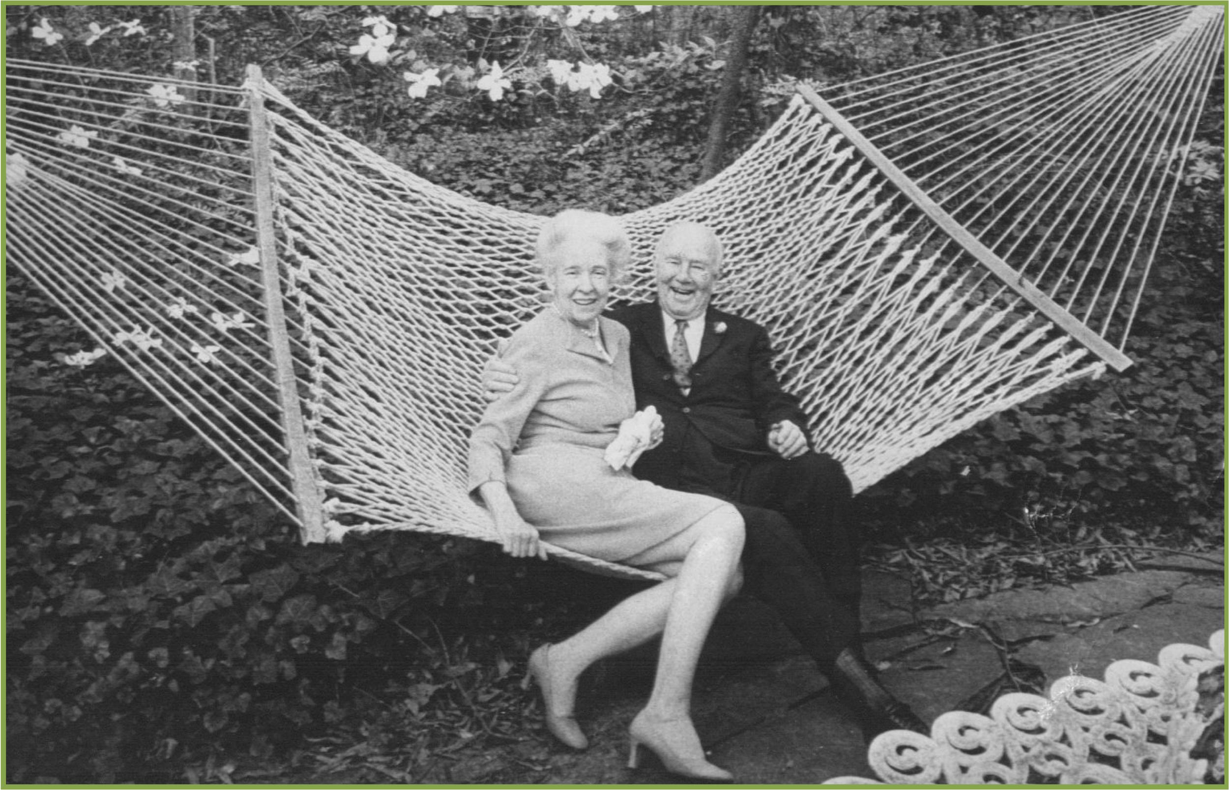 Elizabeth and Eddie Clarkson at home in their garden, 1979 (c) Andrea Sprott