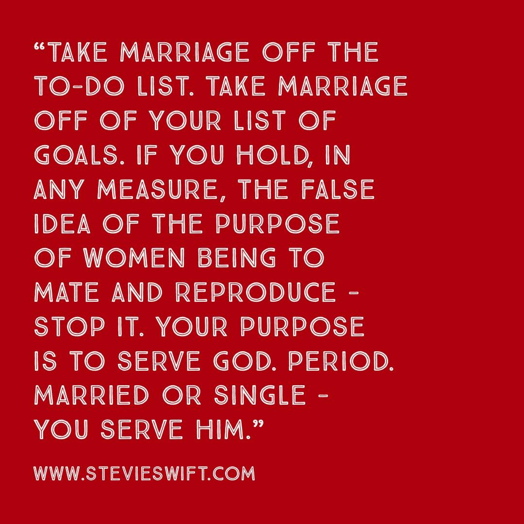 Christian Singleness Quote