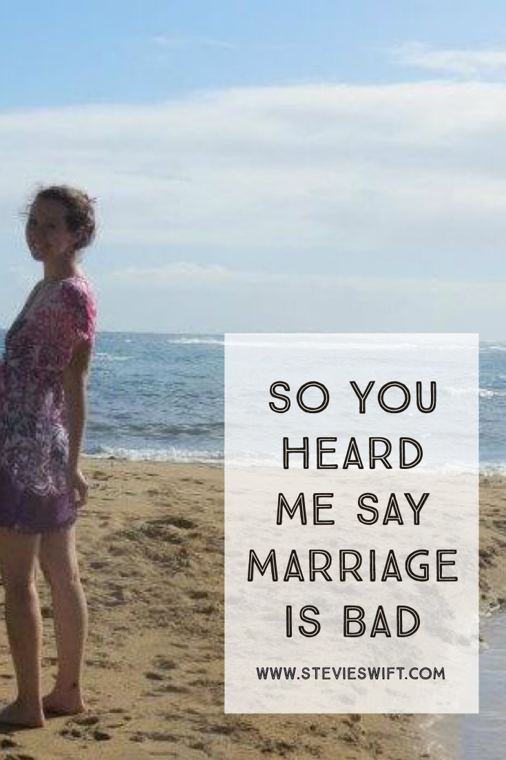 """YOU HEARD """"MARRIAGE IS BAD"""" WHEN I SAID """"SINGLENESS IS GOOD"""" - LET ME CLARIFY"""