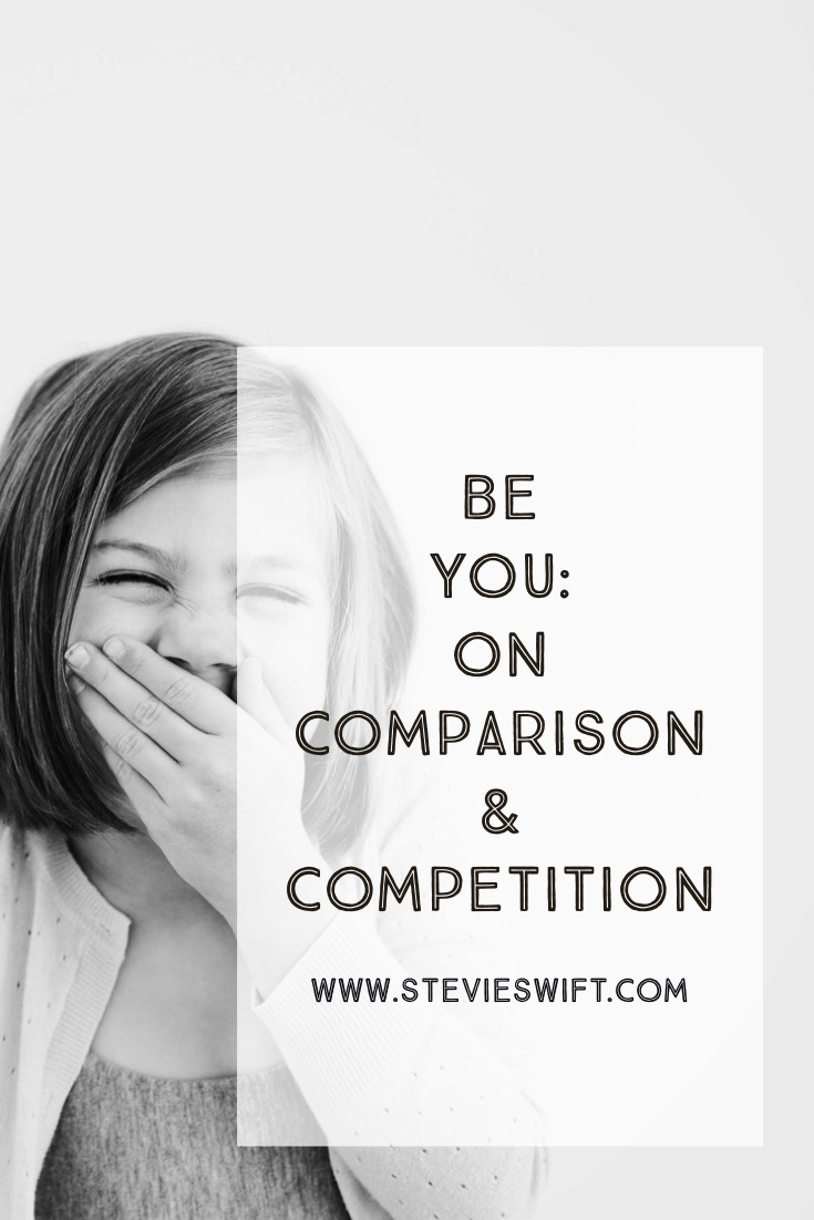 we must be different from each other without comparing and competing