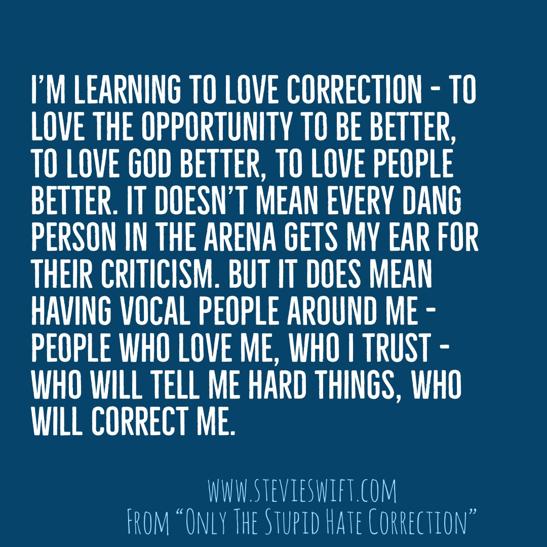 learning to love correction
