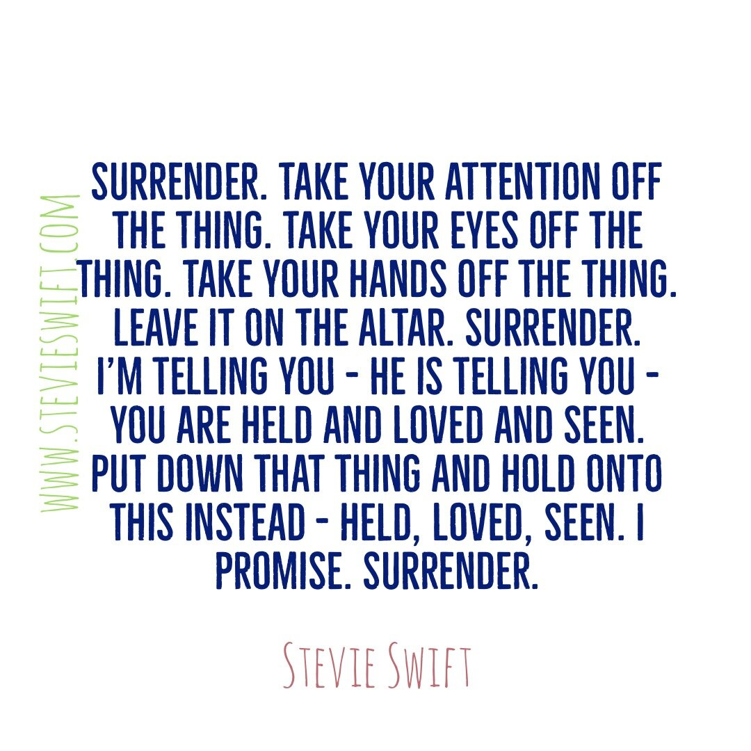surrender to the lord