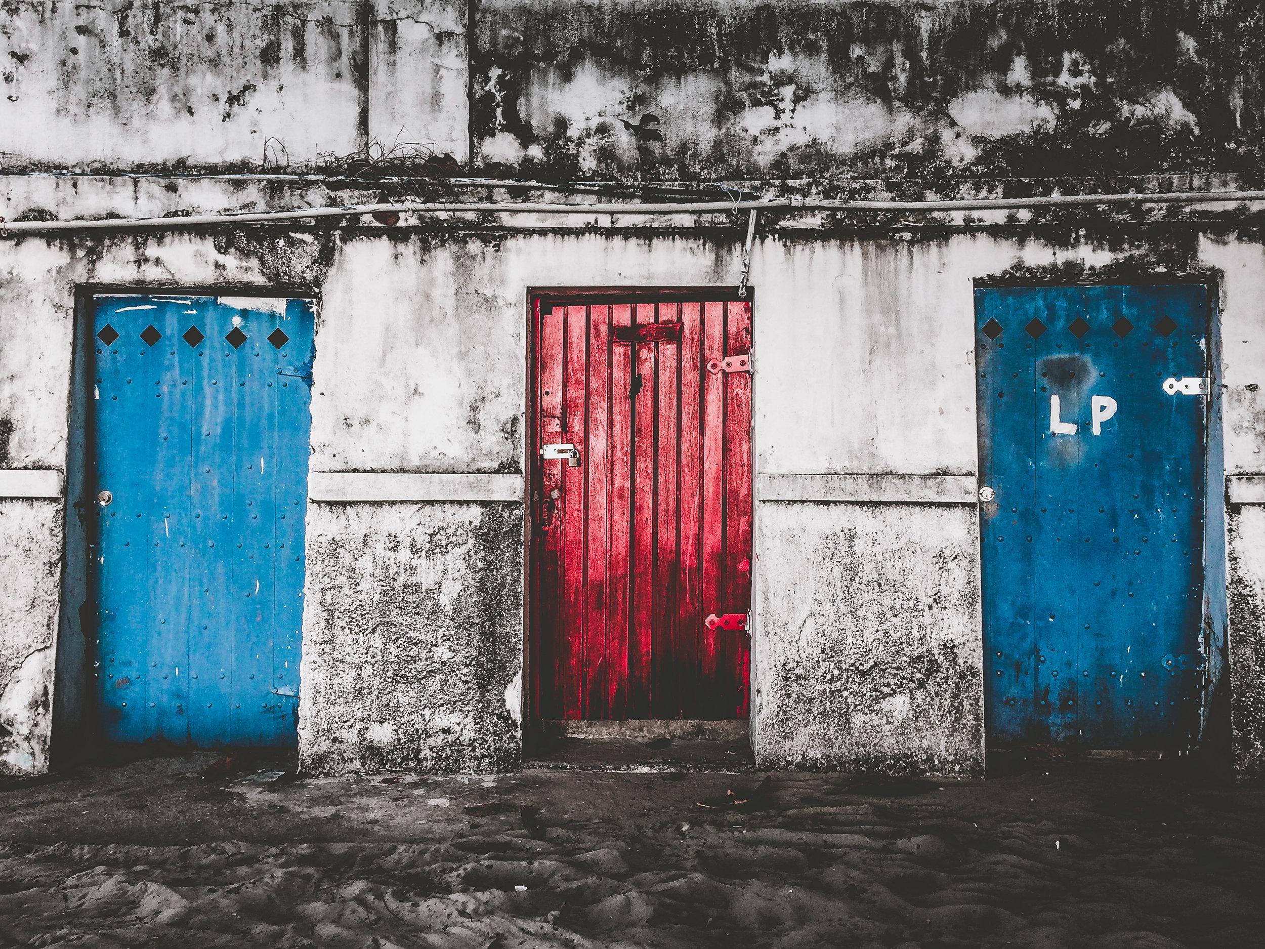 /Red door or Blue door which one will you choose?