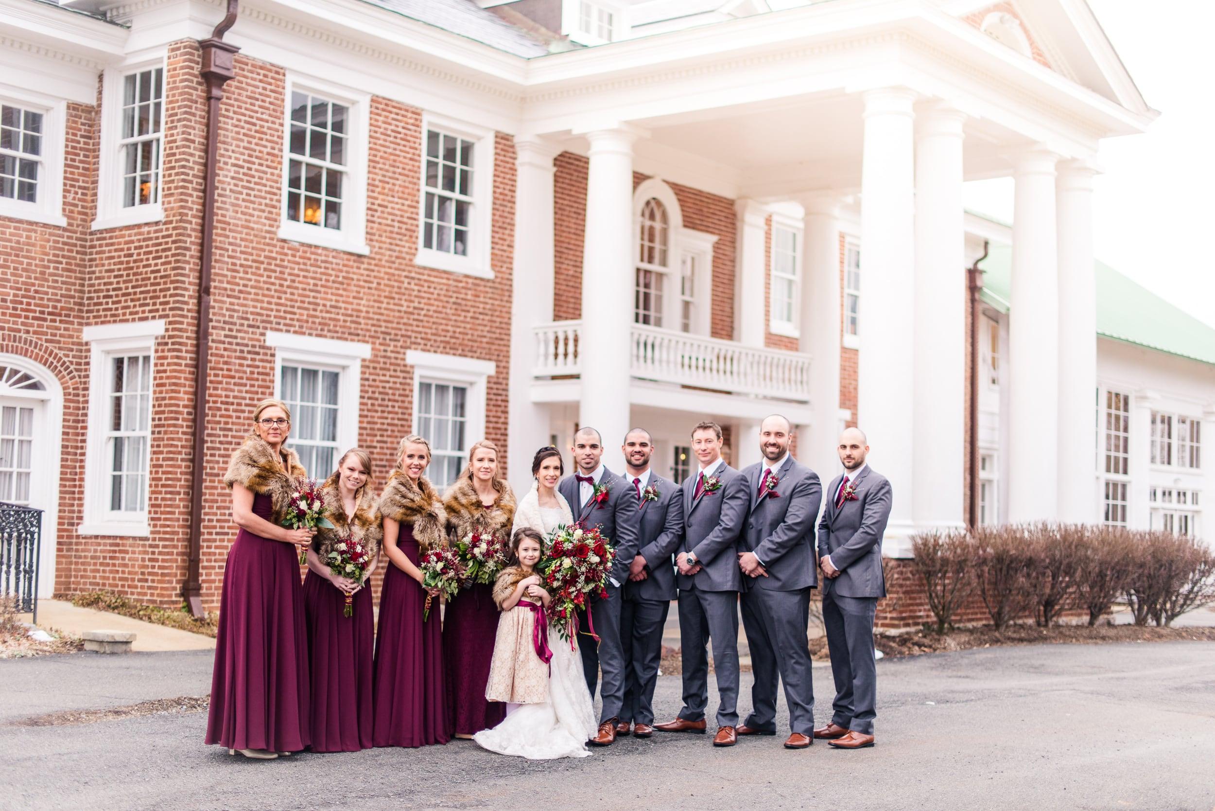 Raspberry Plain Manor Leesburg Virginia Winter Wedding