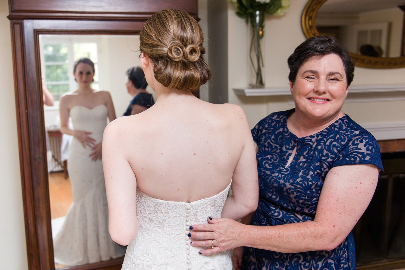 Bride with her Mother Before the Ceremony