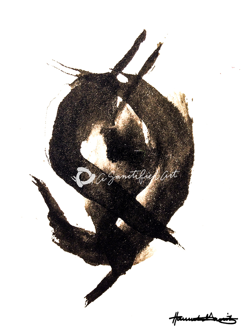 trinity, abstract art, sanctified art, hannah garrity, trinity meditations