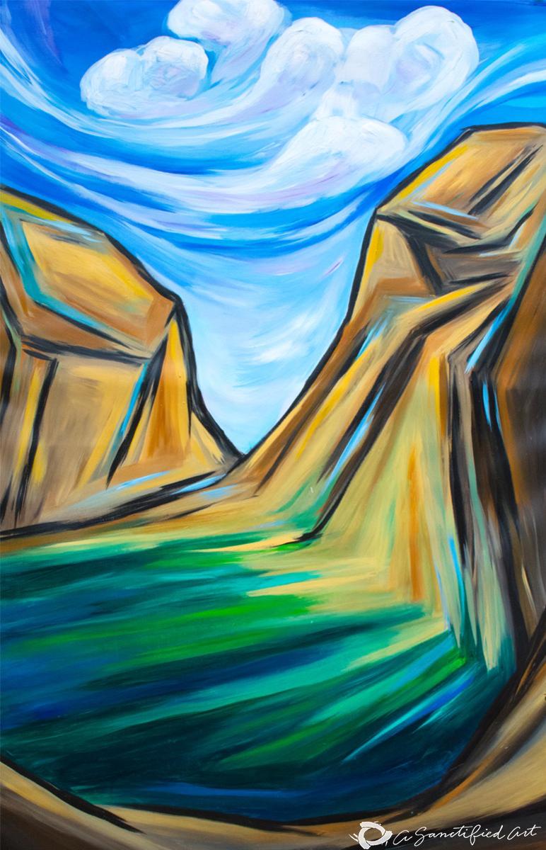 valley of dry bones, ezekiel 37, sanctified art, lisle gwynn garrity art