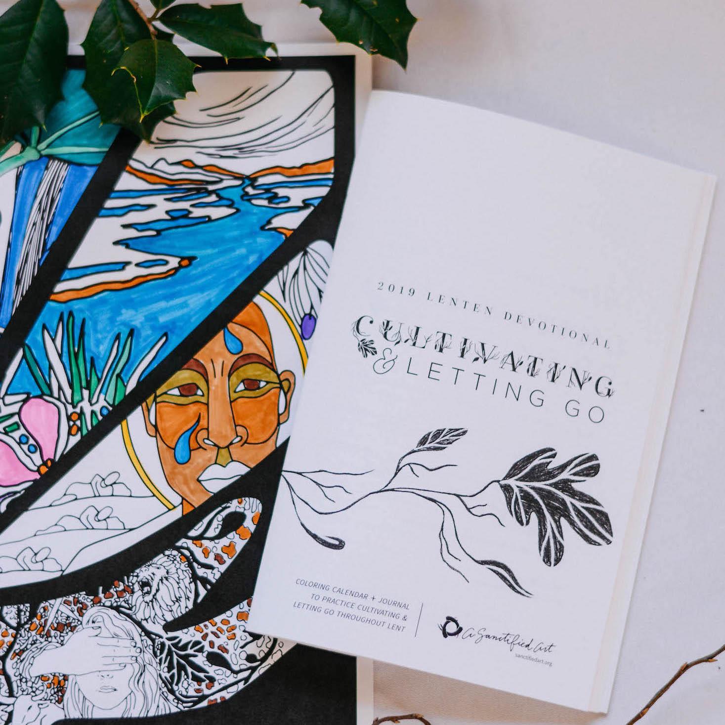 Cultivating & Letting Go Lenten Coloring Calendar + Devotional Guide (Year C) $18-$85