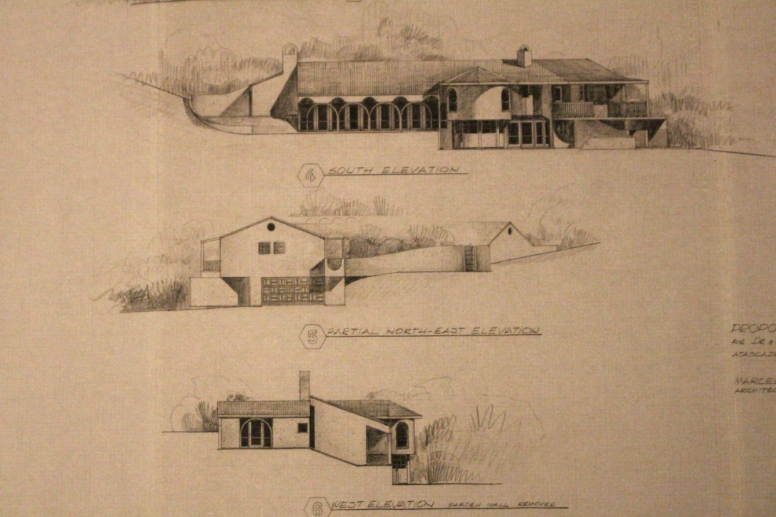 First sketches of the house drawn by Marcel.
