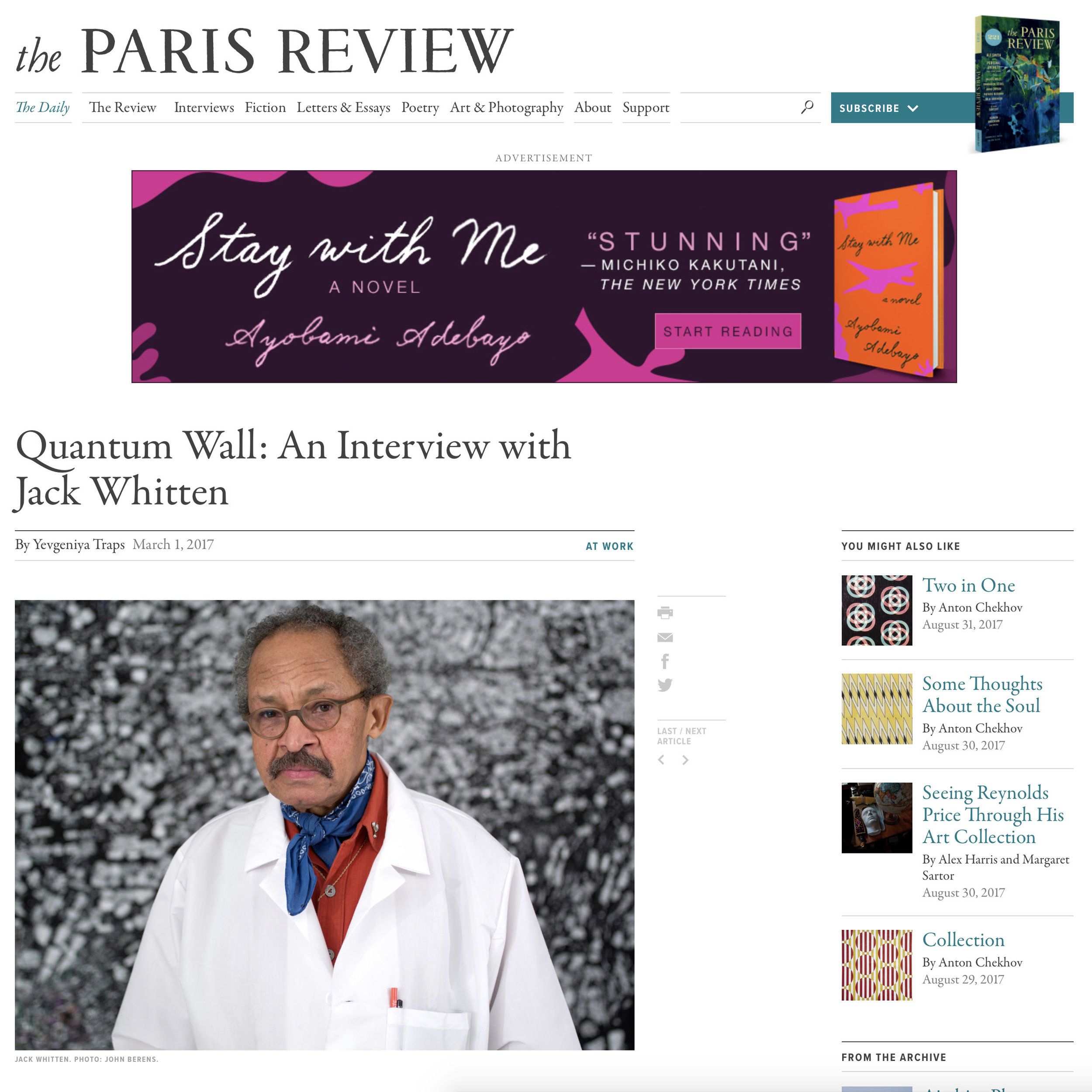 THE PARIS REVIEW  Hauser & Wirth  Jack Whitten