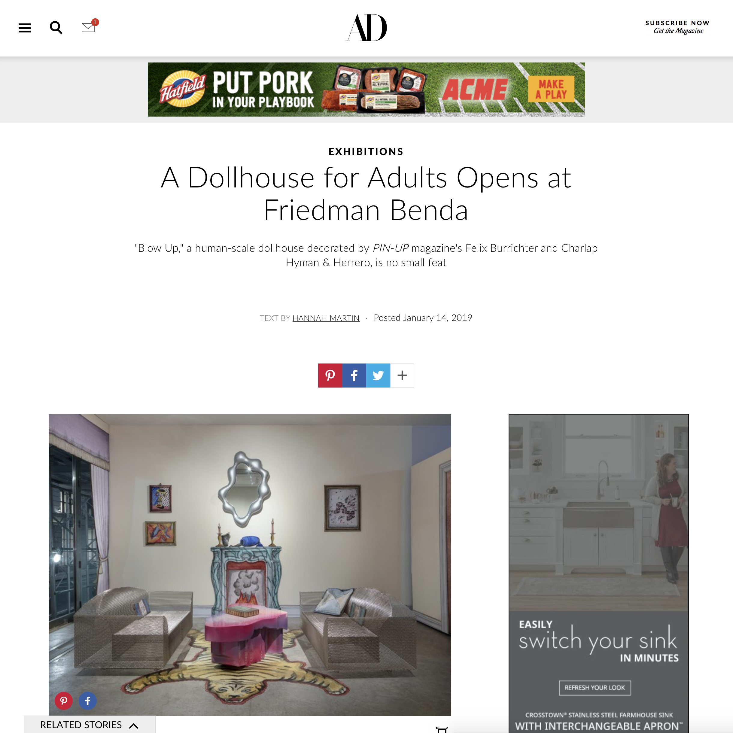 Architectural Digest  Friedman Benda  Blow Up
